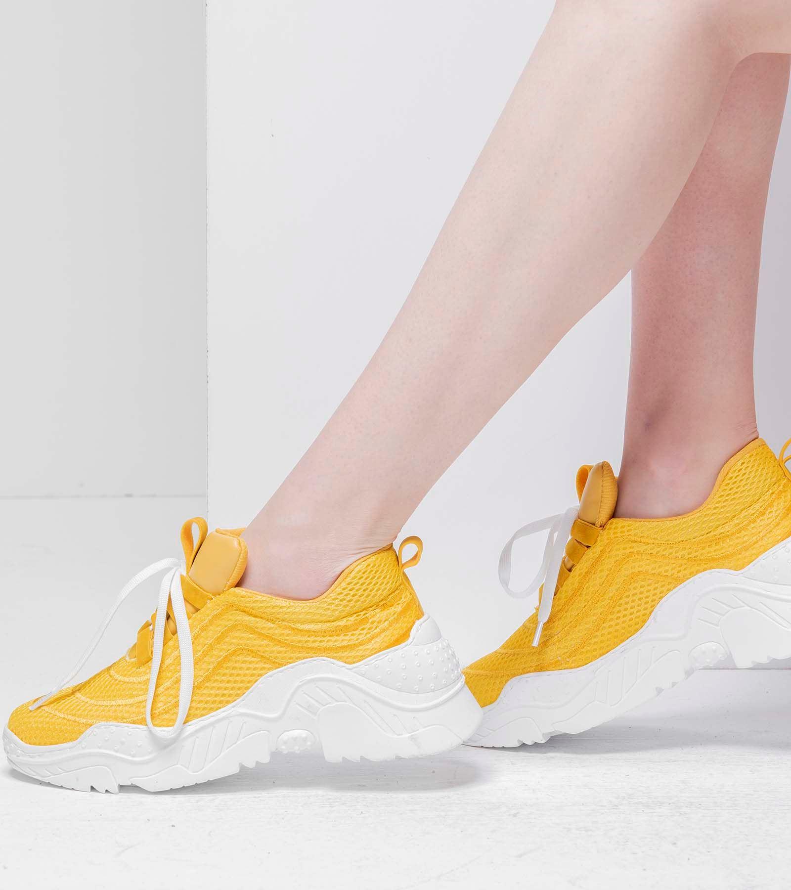 Rosie Yüksek Topuk Spor Ayakkabı Sarı