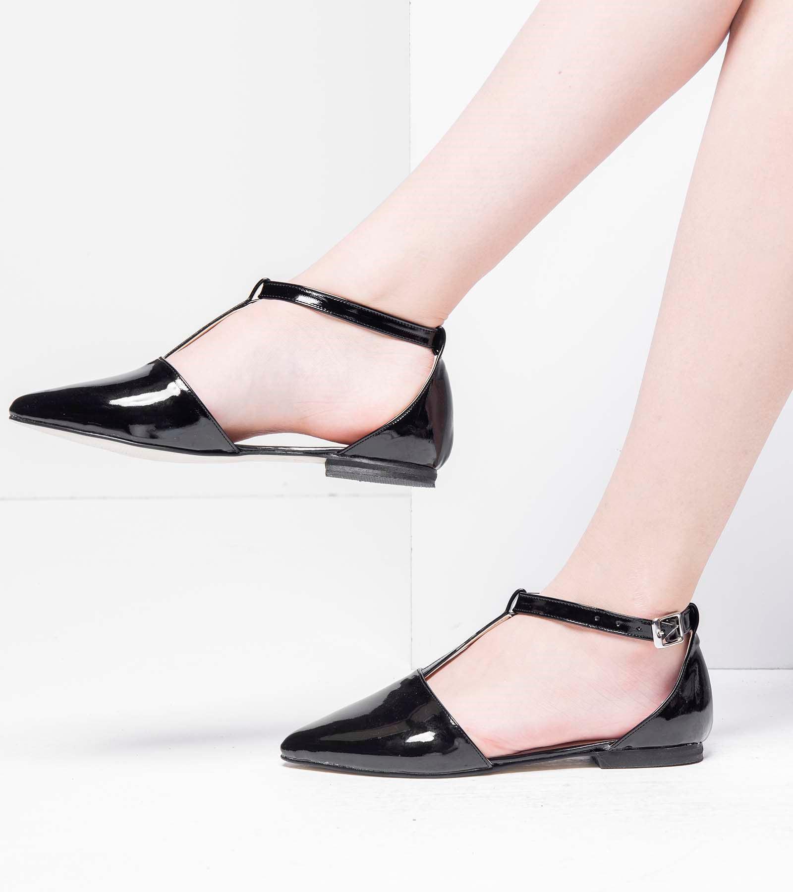 Belda Günlük Rugan Ayakkabı Siyah