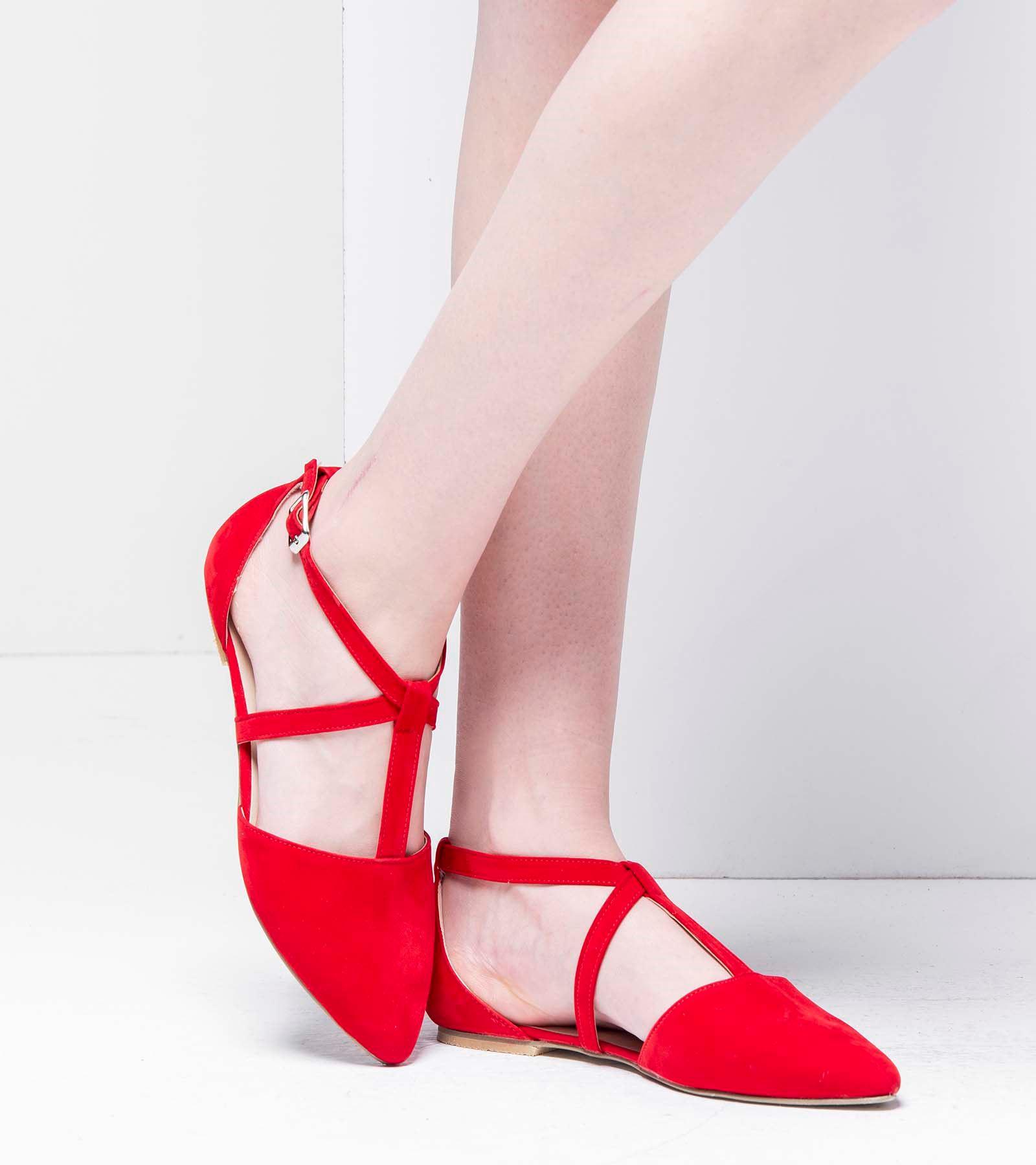 Marjan Günlük Süet Ayakkabı Kırmızı