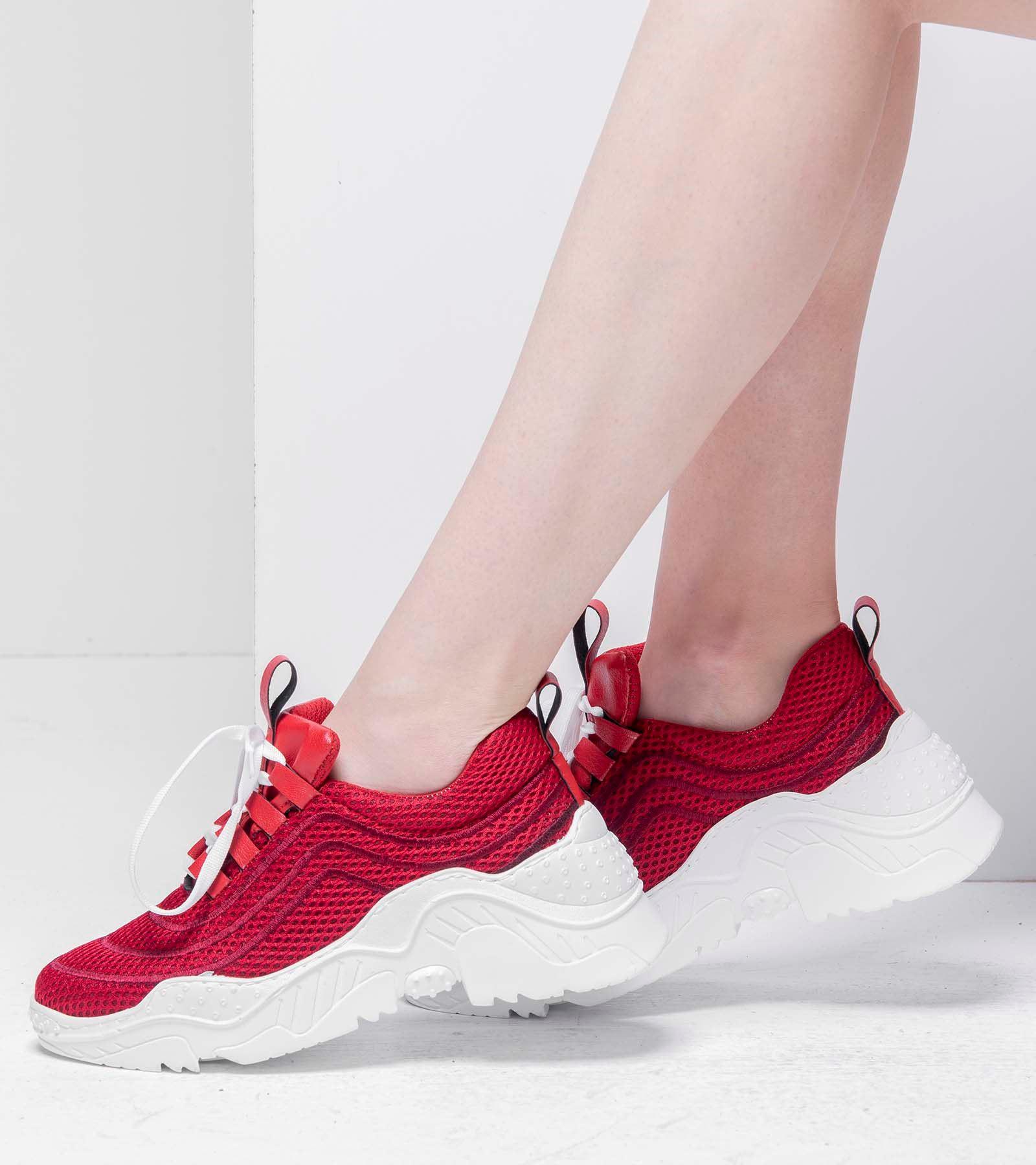 Rosie Yüksek Topuk Spor Ayakkabı Kırmızı