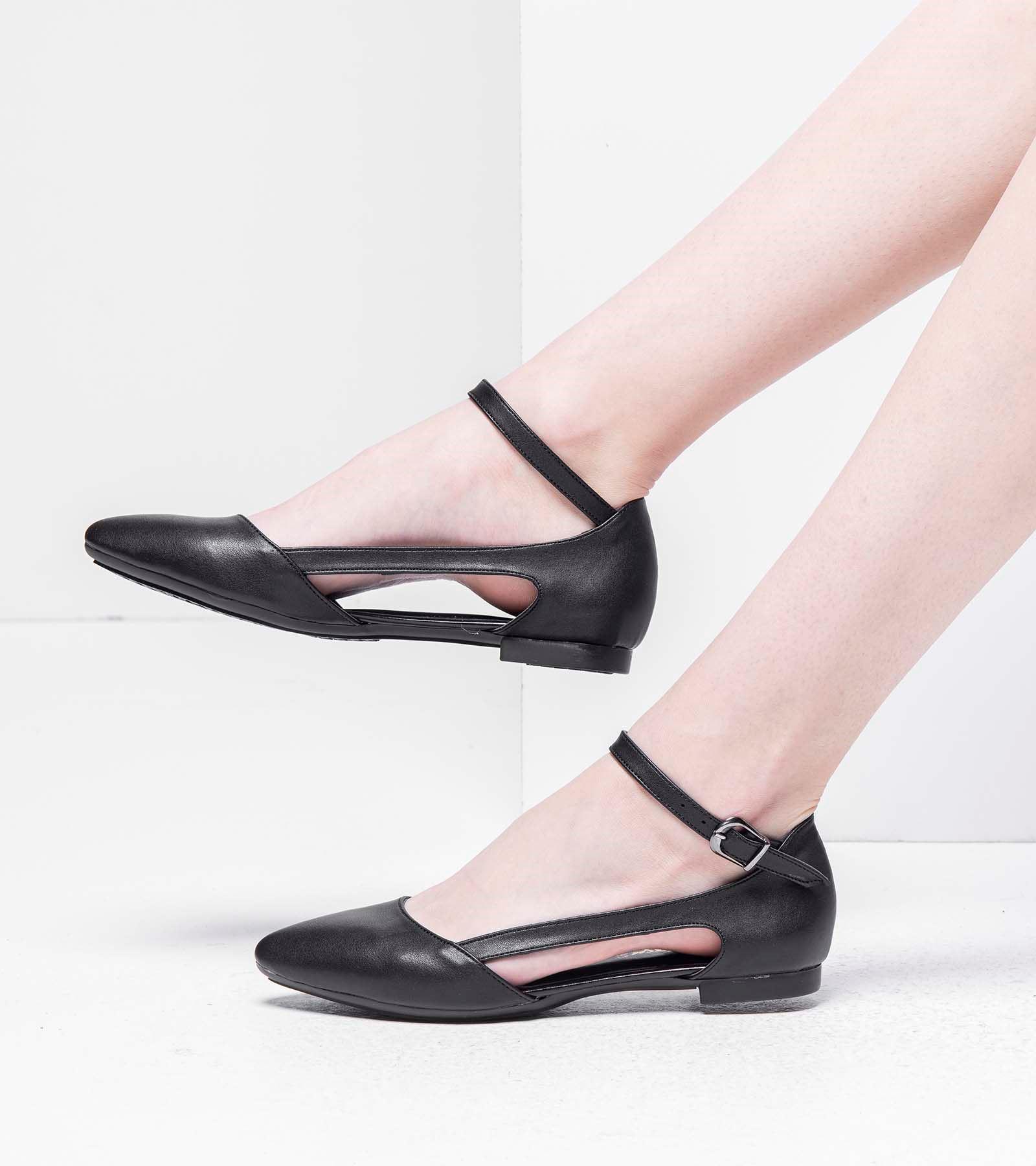 Anna  Günlük Cilt Ayakkabı Siyah