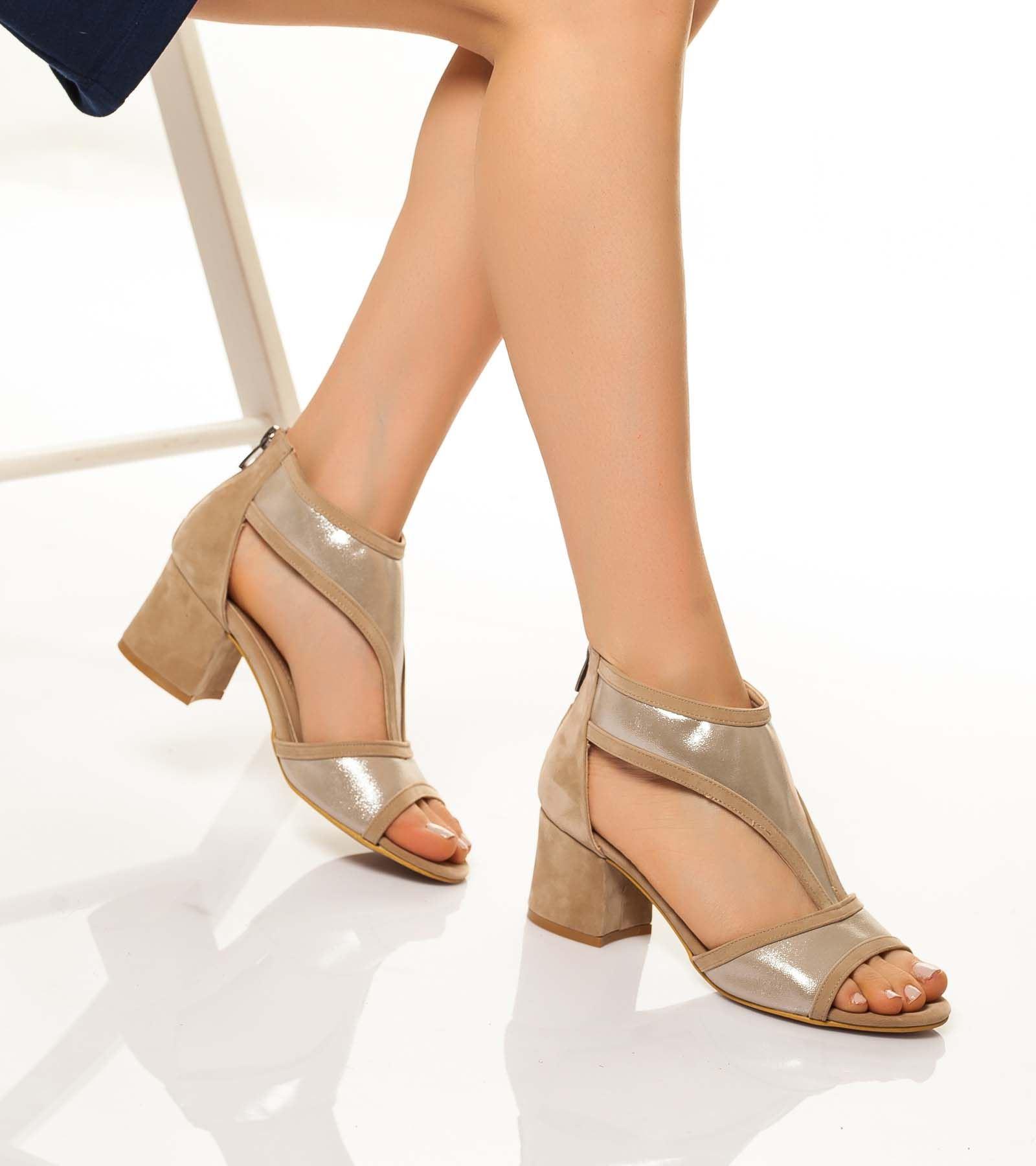 Kate Arkası Kapalı Süet Ayakkabı Ten