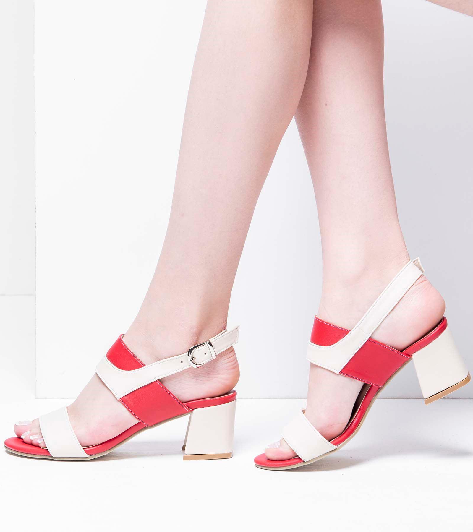 Perla Topluklu Cilt Ayakkabı Kırmızı Ten