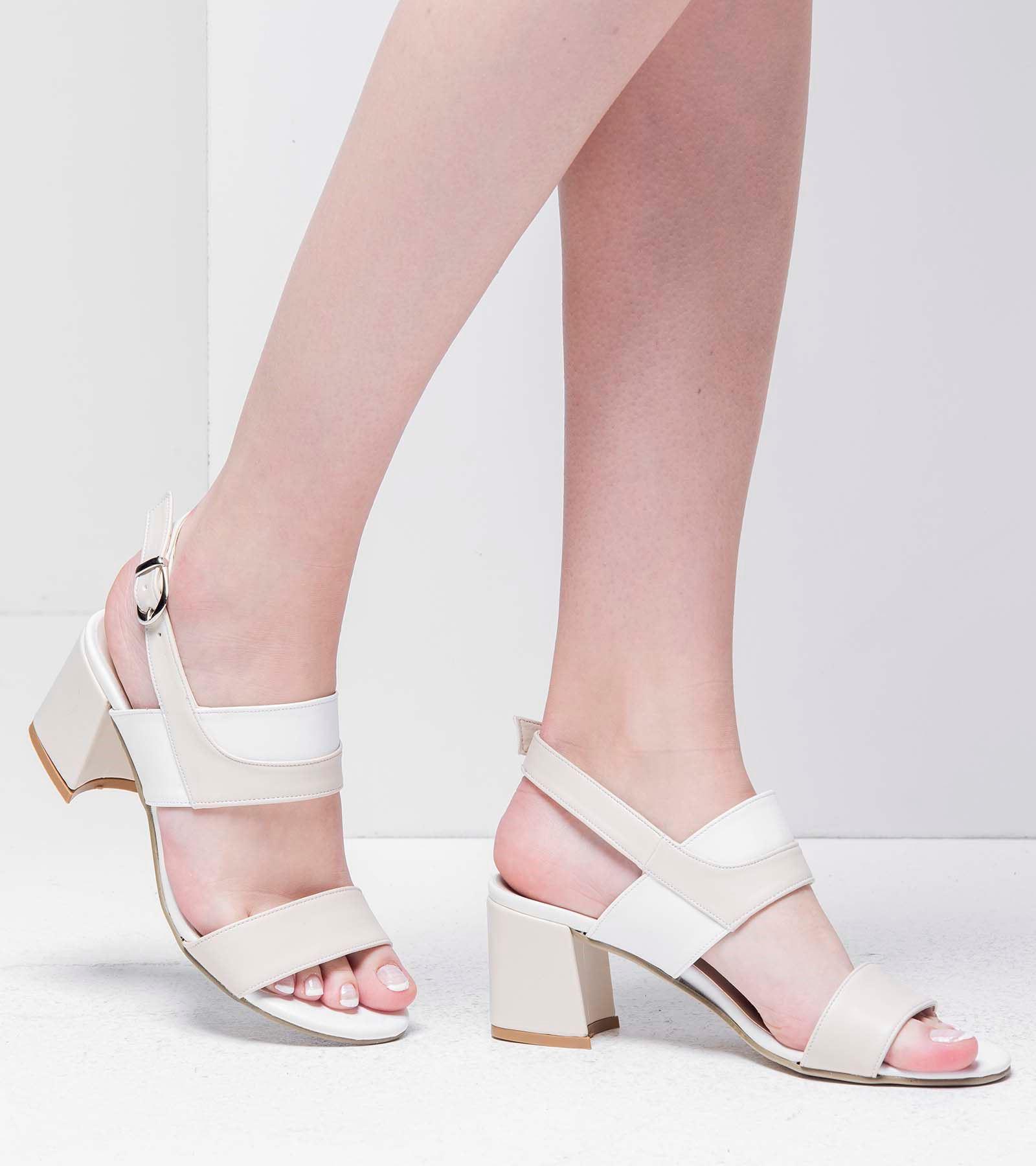 Perla Topluklu Cilt Ayakkabı Beyaz Ten