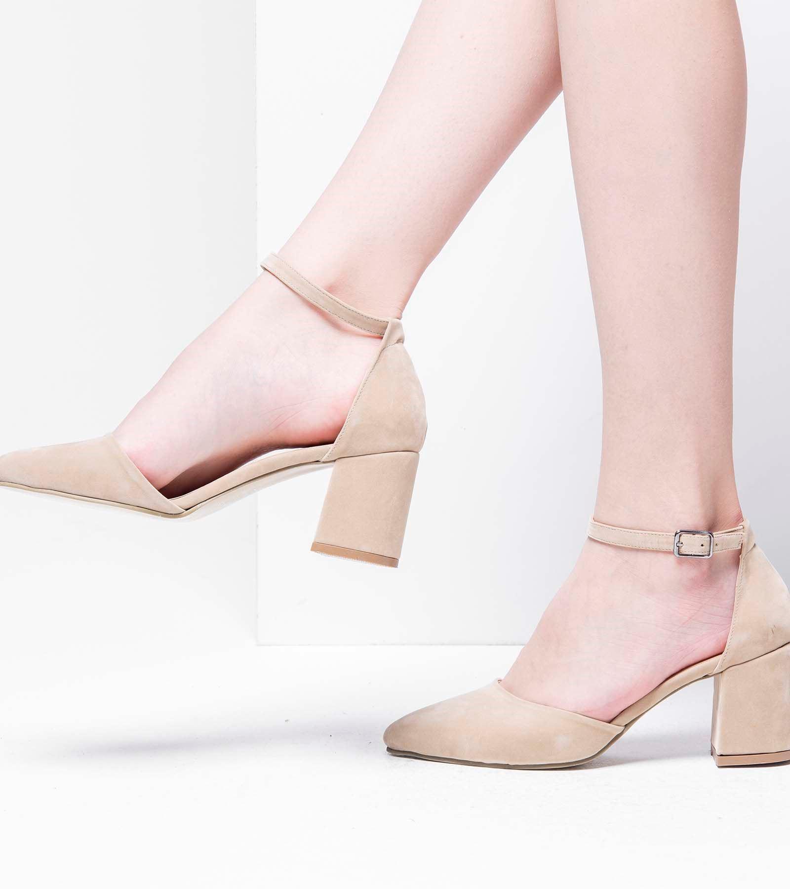 Lisa Topuklu Süet Ayakkabı Ten