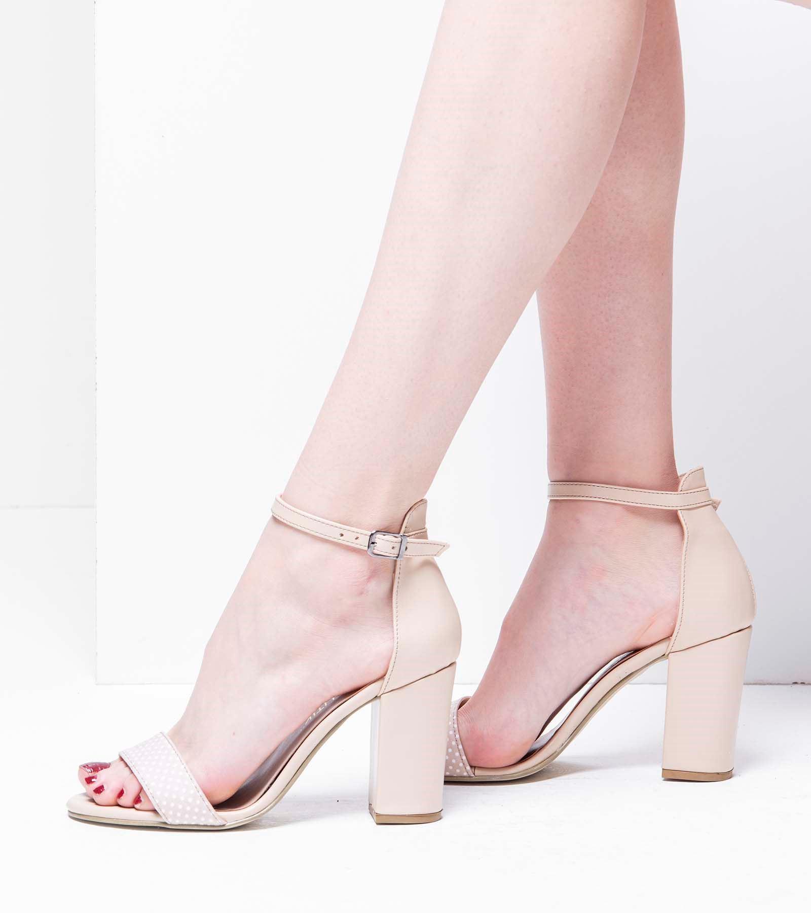 Valentina  Topuklu Cilt  Ayakkabı Ten