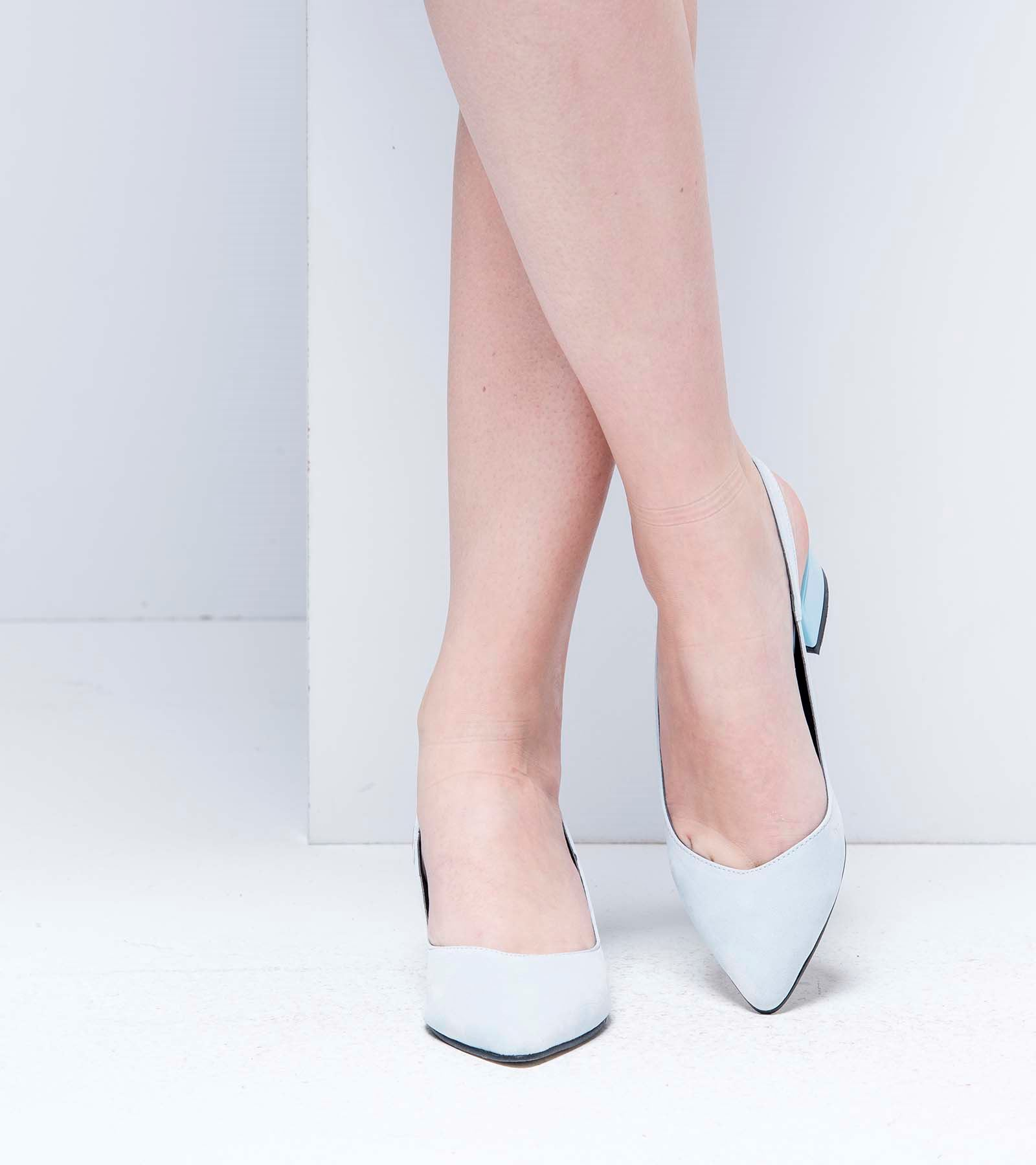 Tanya Topuğu Rugan Süet Ayakkabı Bebe Mavisi