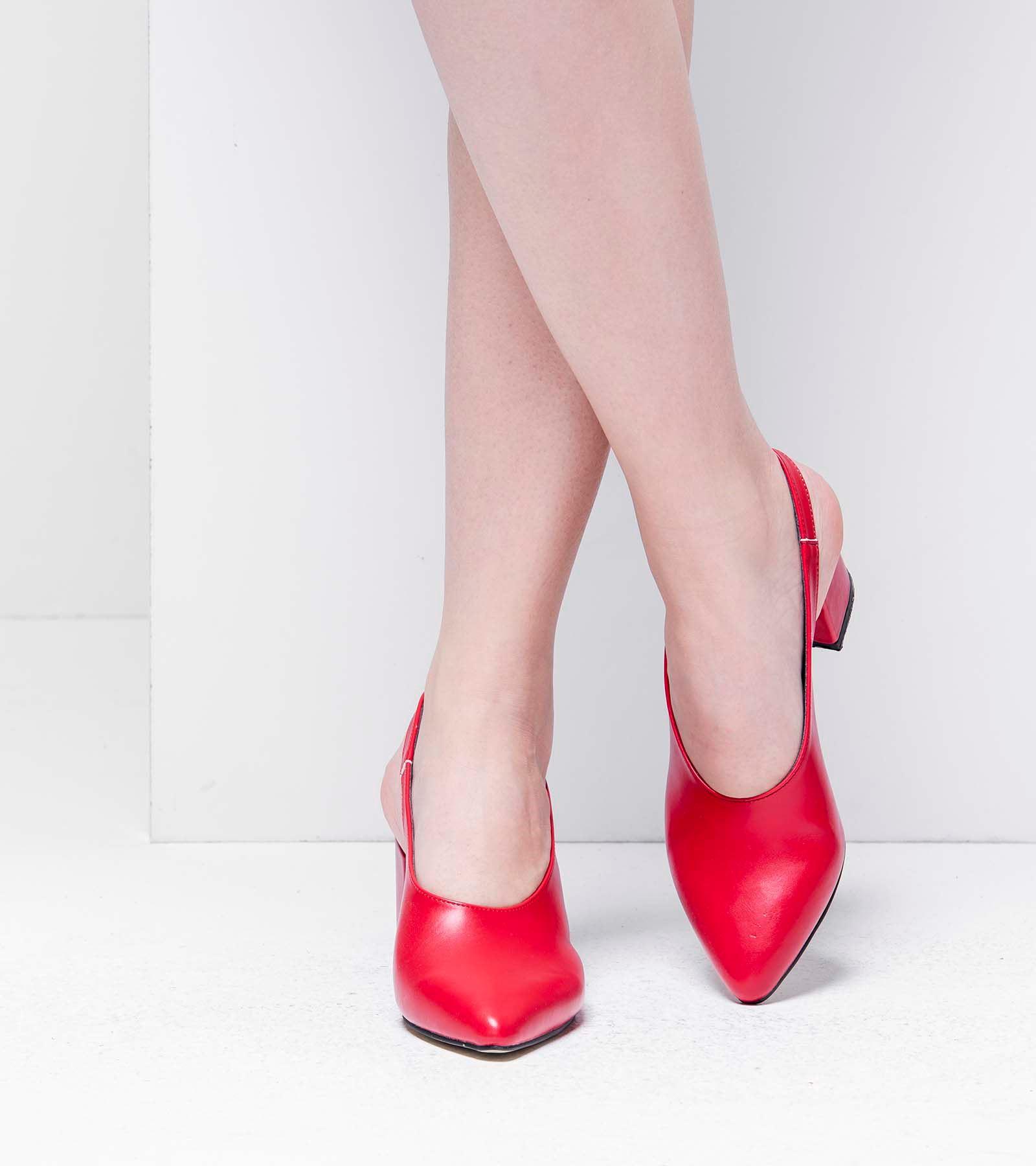 Regan Topuklu Cilt Ayakkabı Kırmızı