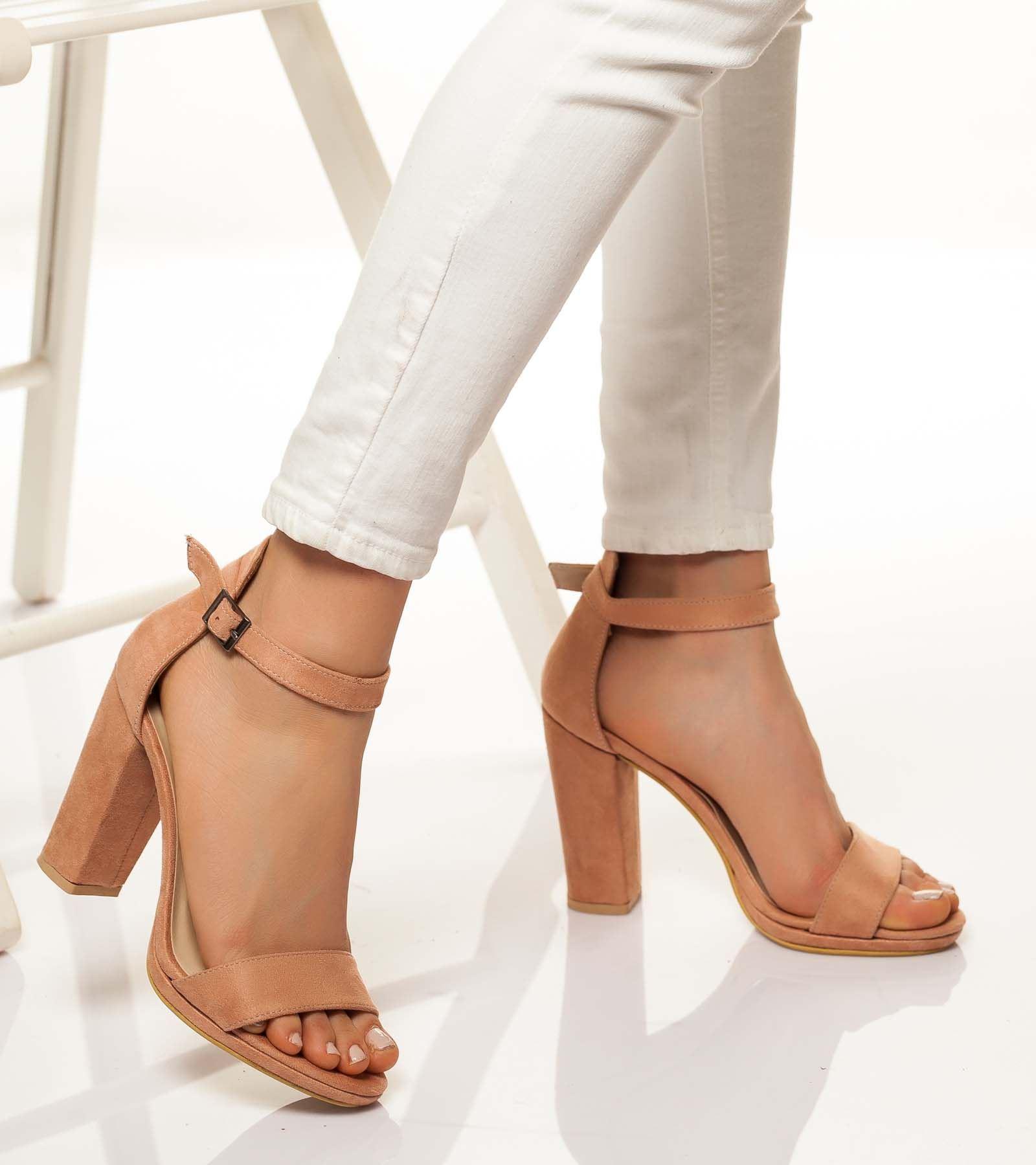 Aleda  Süet Ayakkabı Pudra