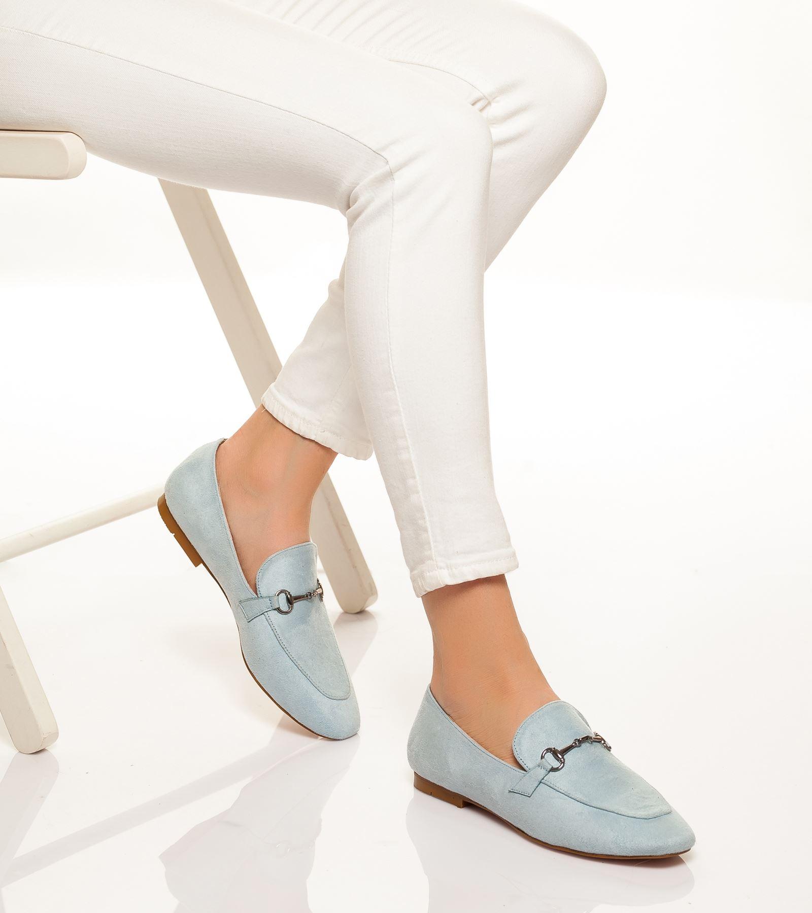 Alberta Süet Ayakkabı Bebe Mavisi