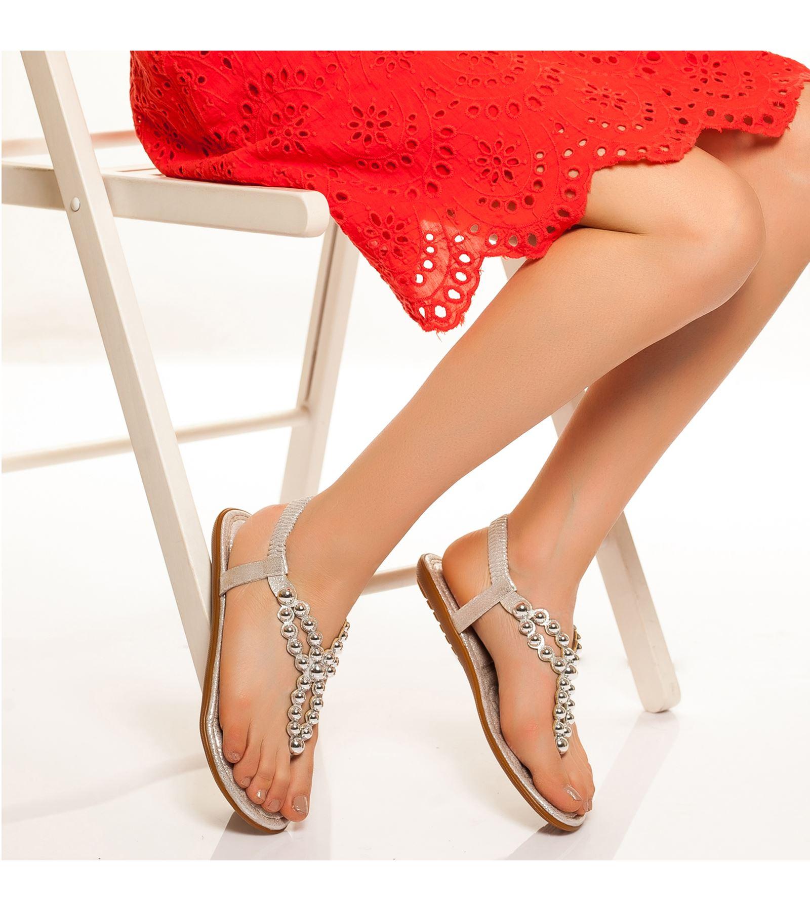 Jenny Bilekten Bağlamalı Sandalet Gümüş