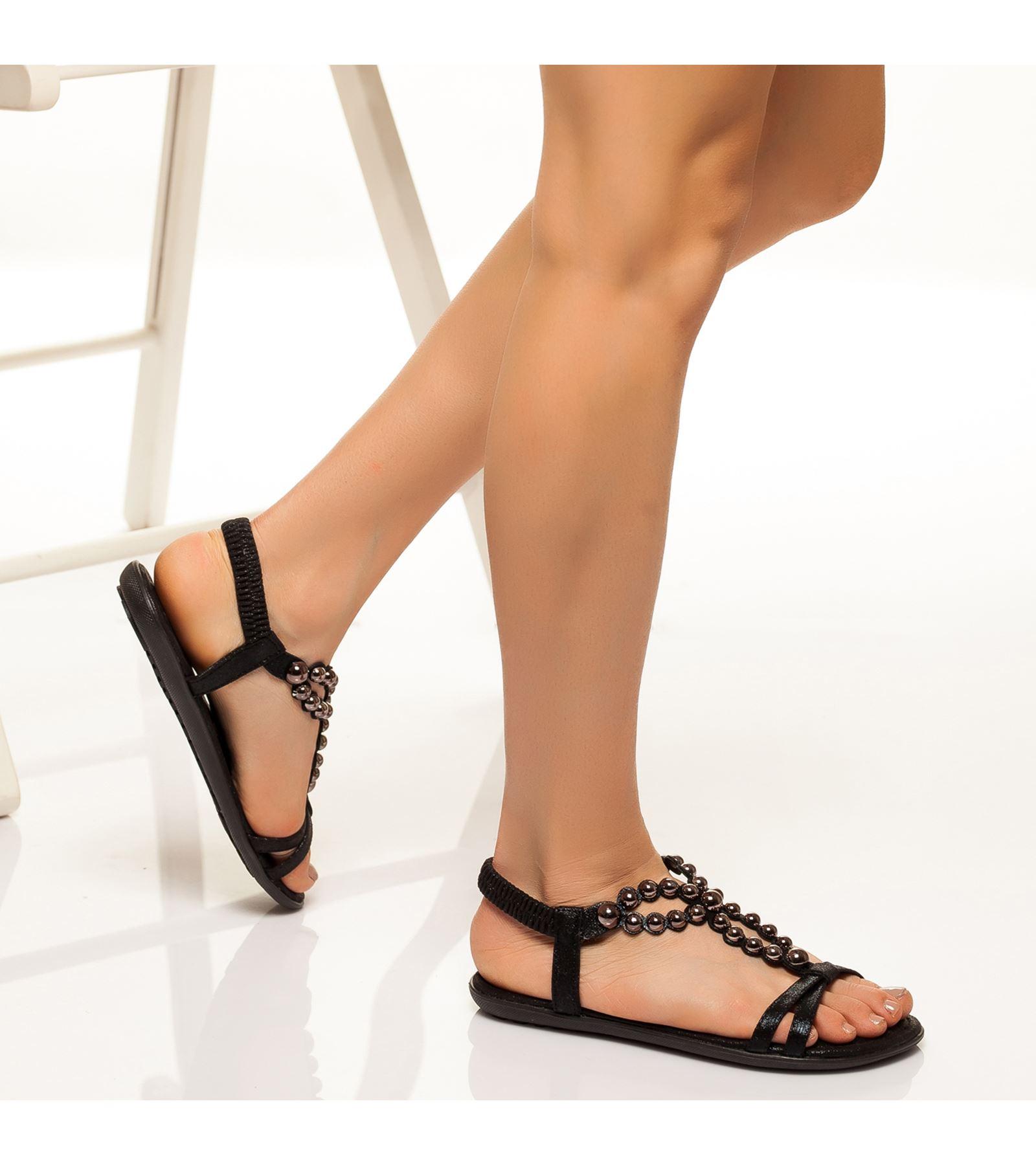 Dilara Bilekten Bağlamalı Sandalet Siyah