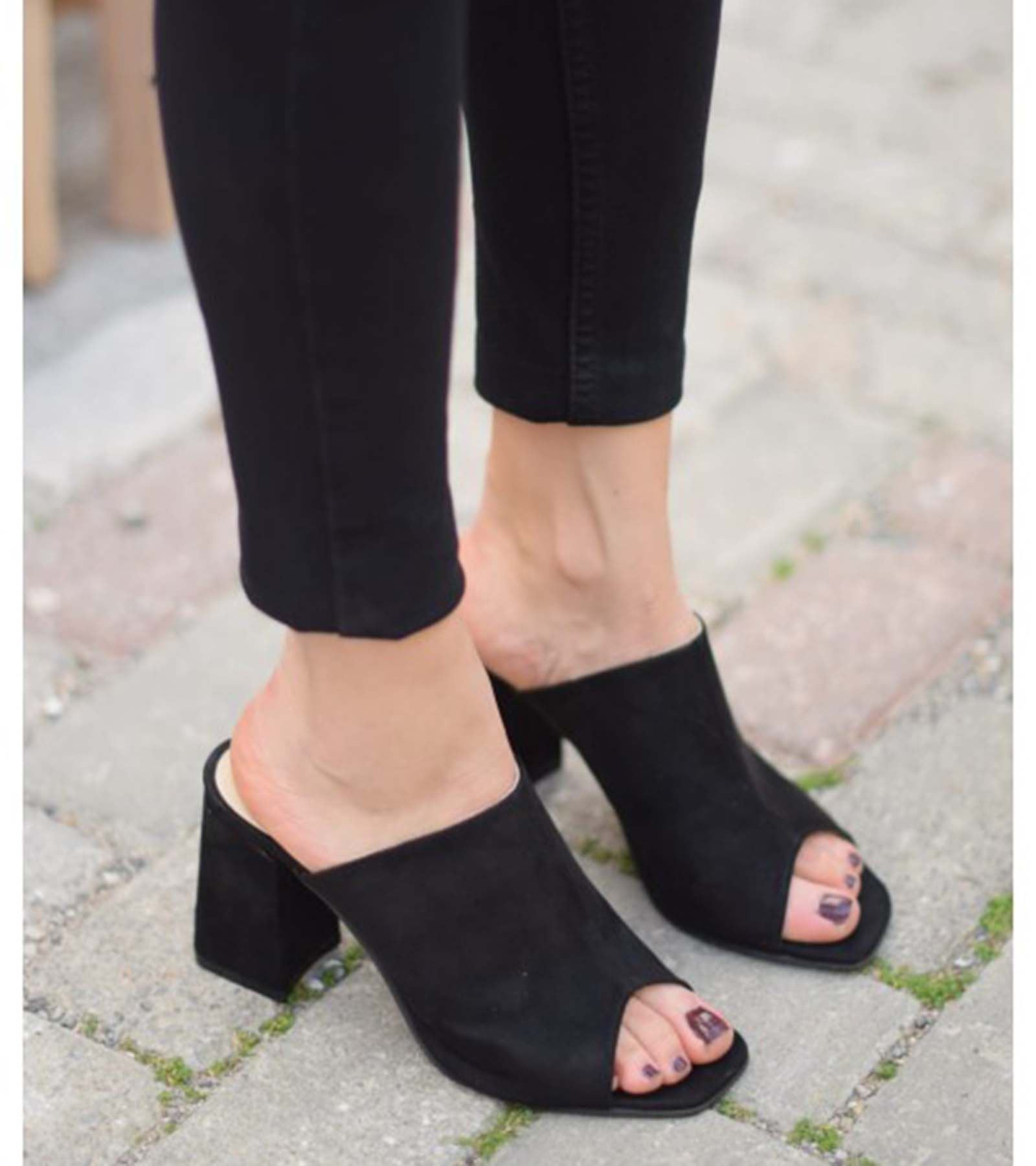 Adriana Topuklu Süet Ayakkabı Siyah