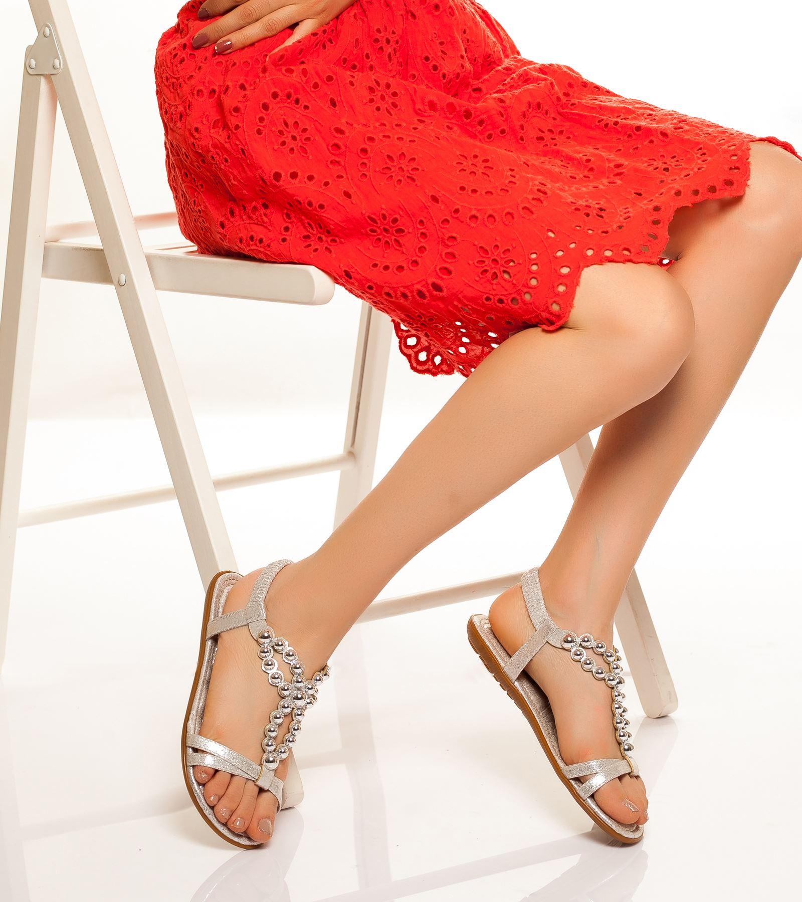 Dilara Bilekten Bağlamalı Sandalet Gümüş