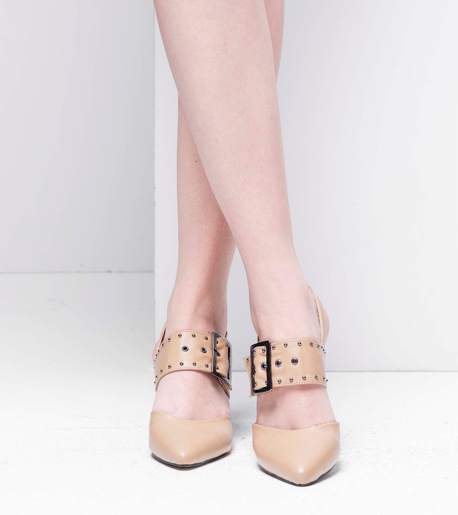 Neva Topuklu Cilt Ayakkabı Nude