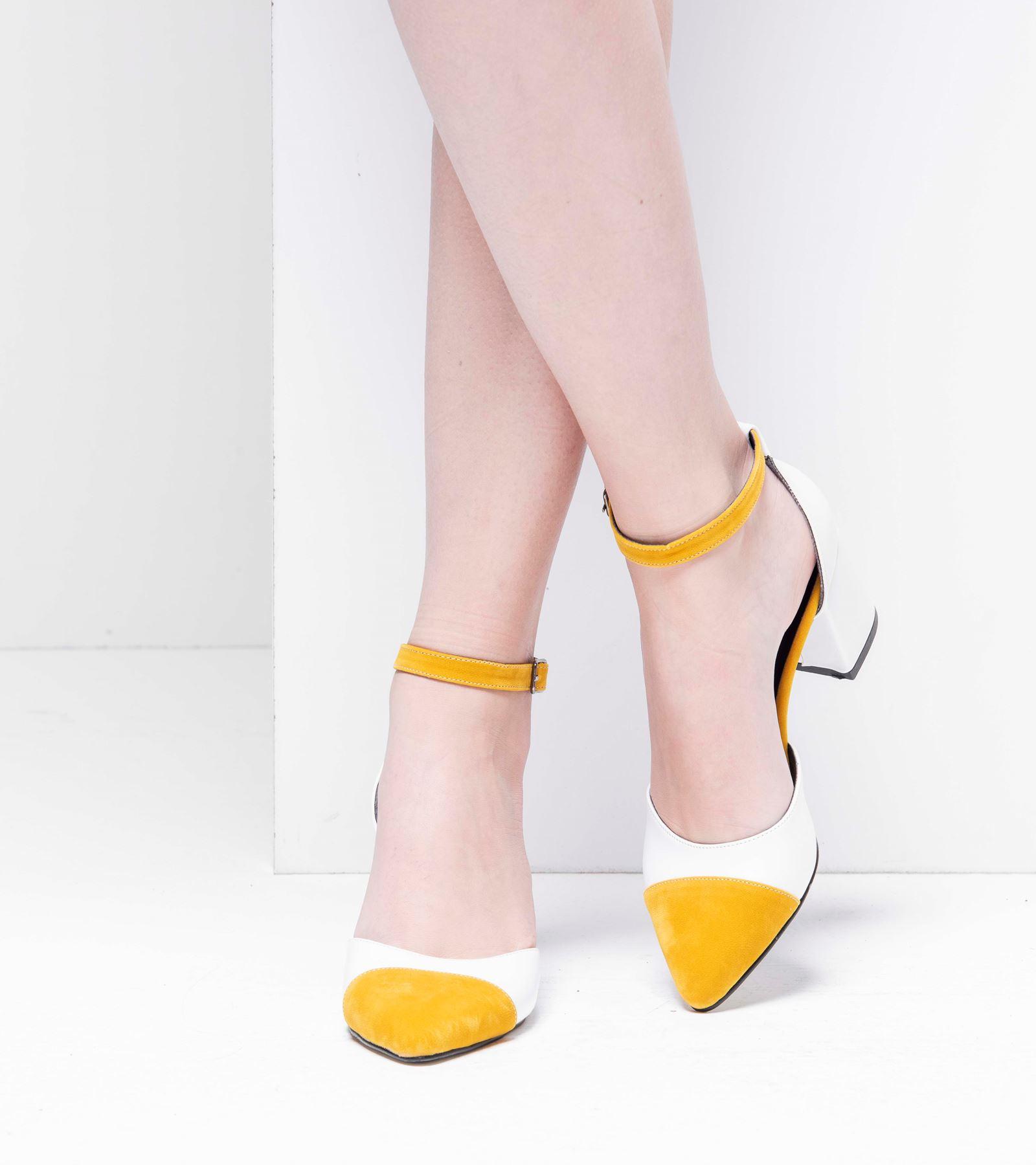 Tiana Topuklu  Ayakkabı Beyaz Deri
