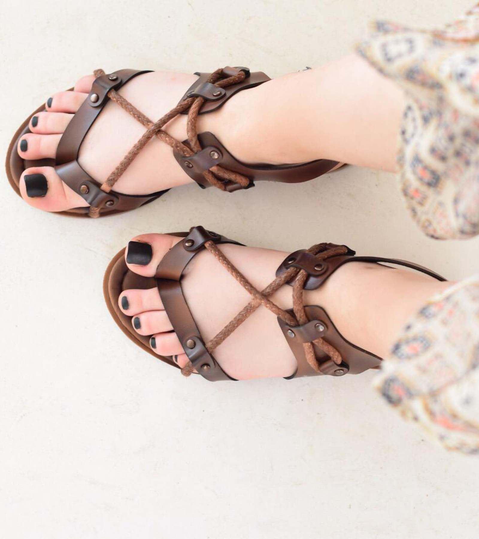 Wendy Halat Detaylı Sandalet Taba