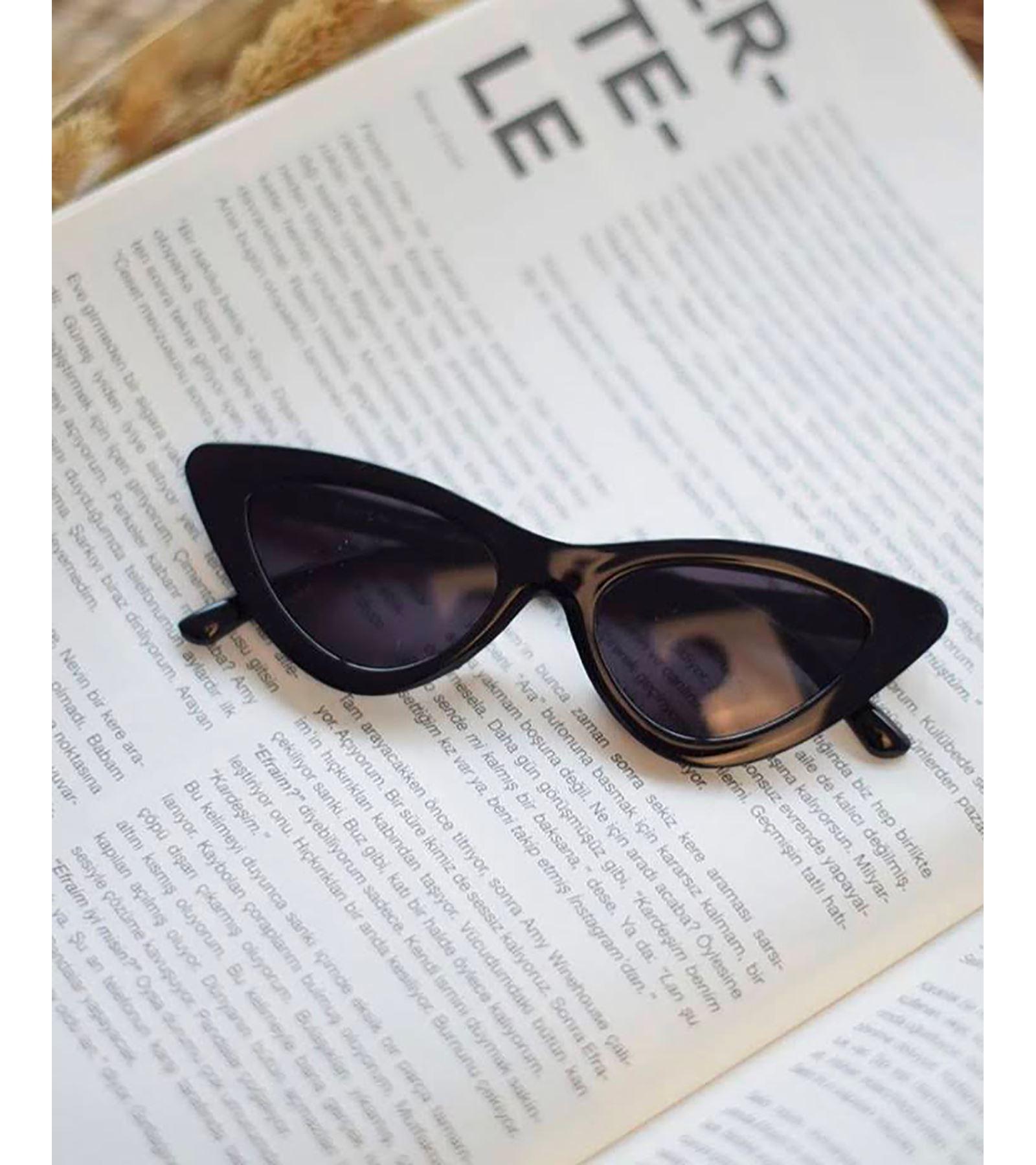 Cat Eye Köşeli Gözlük Siyah