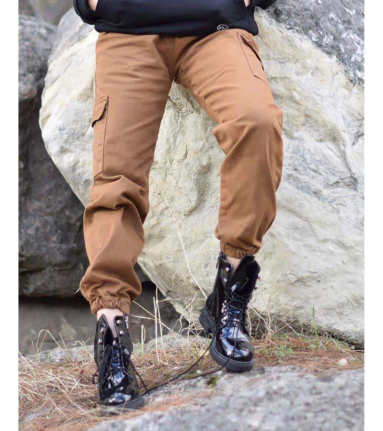 Mum Kumaş Kargo Pantolon Taba