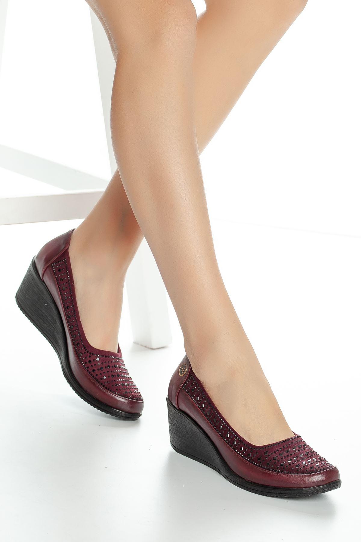 Alza Cilt Ayakkabı Bordo