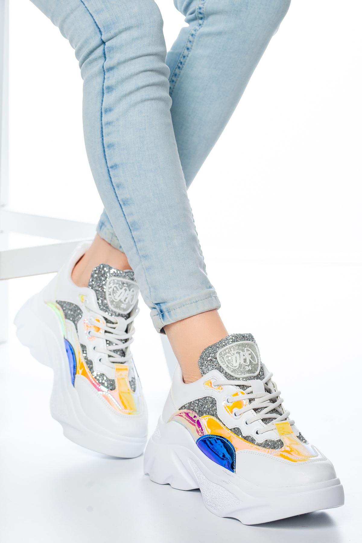 Vespa Neon Sim Detaylı Sneakers Lacivert
