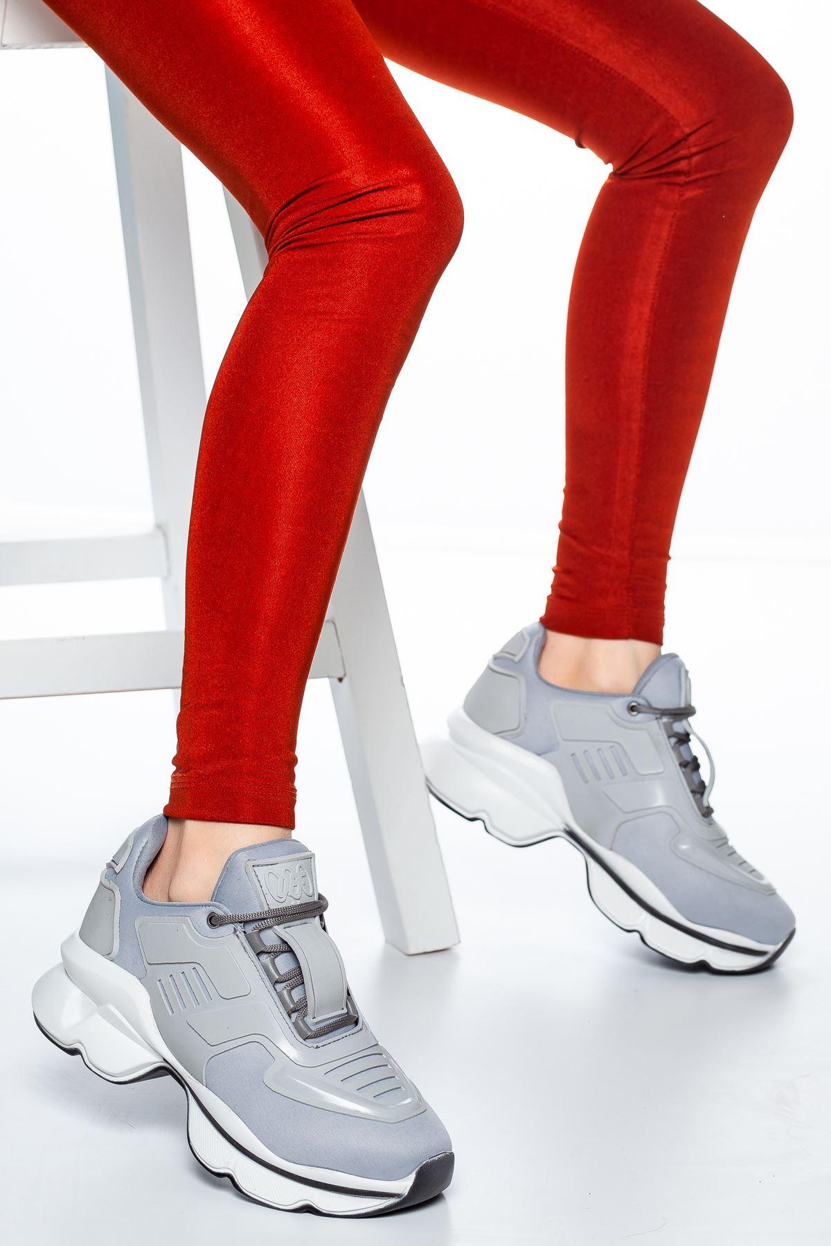 Sandor Şerit Detaylı Sneakers Gri