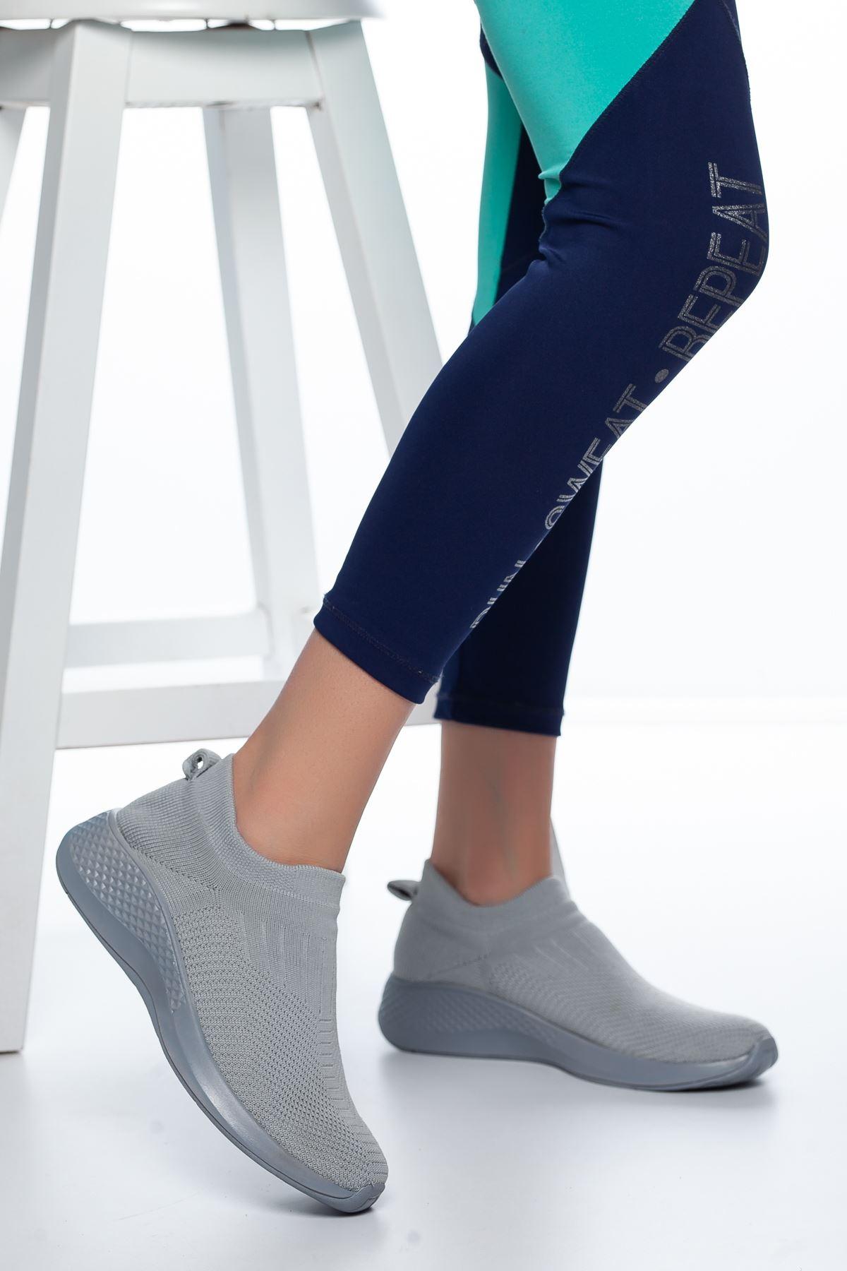 Nolan Lastikli Çorap Spor Gri