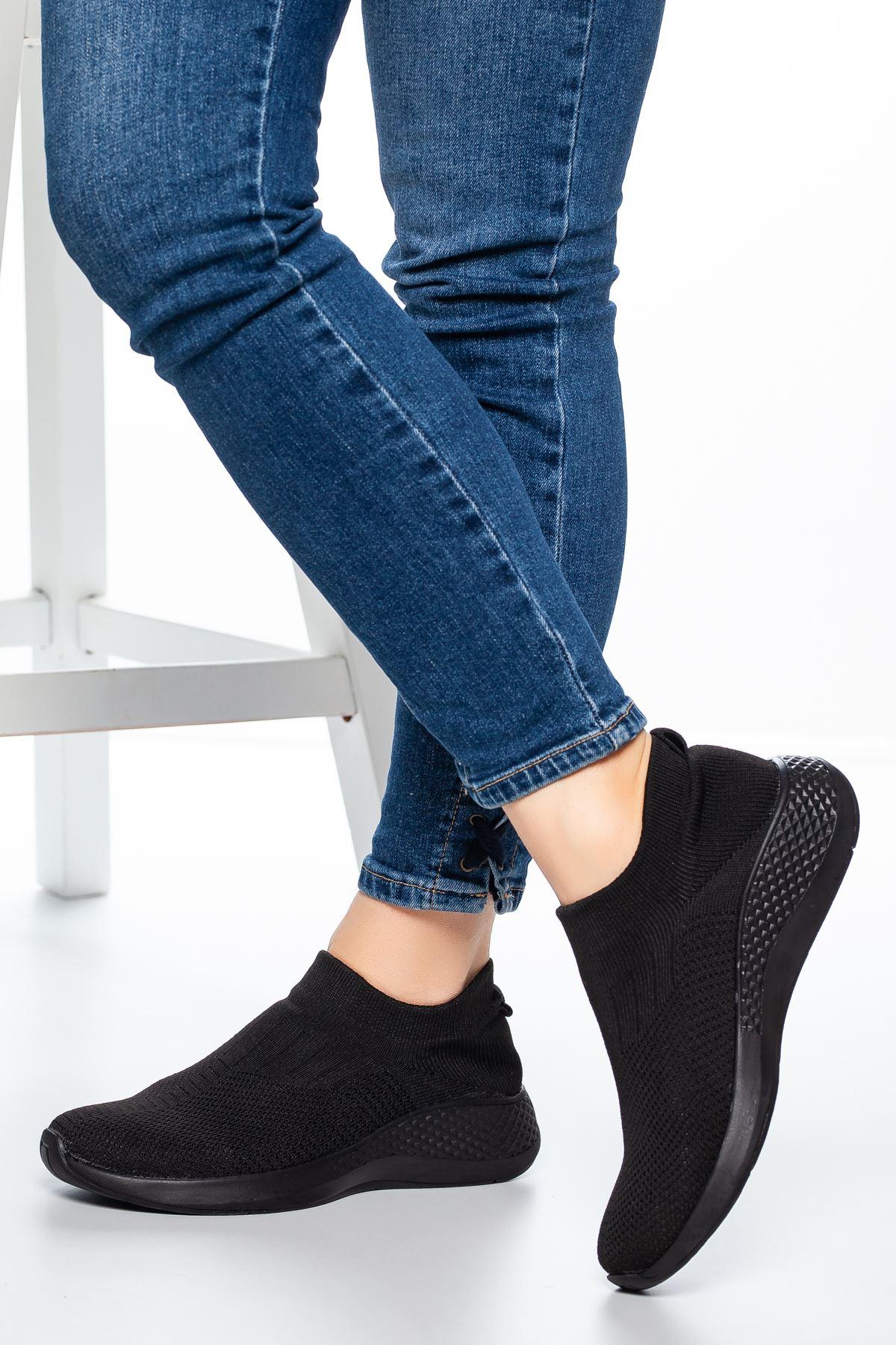Nolan Lastikli Çorap Spor Siyah