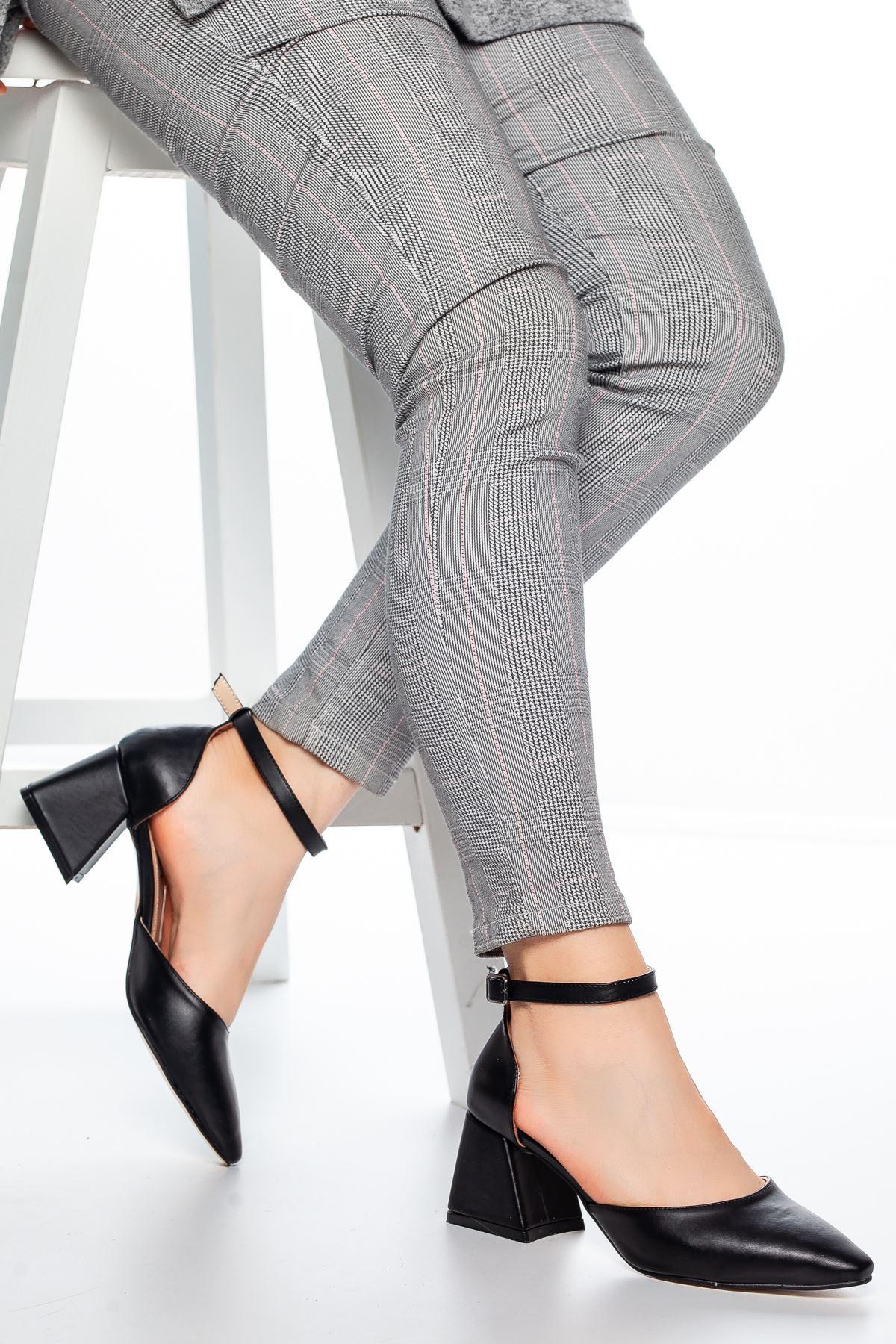 Nadia Topuklu Cilt Ayakkabı Siyah