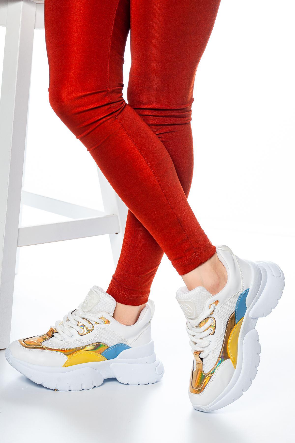 Senro File Detaylı Sneakers Beyaz