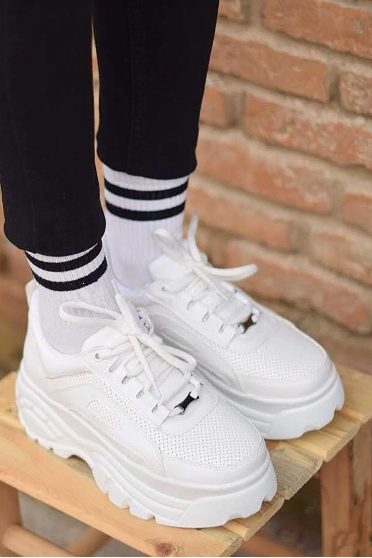 Alf Delikli Sneakers Beyaz
