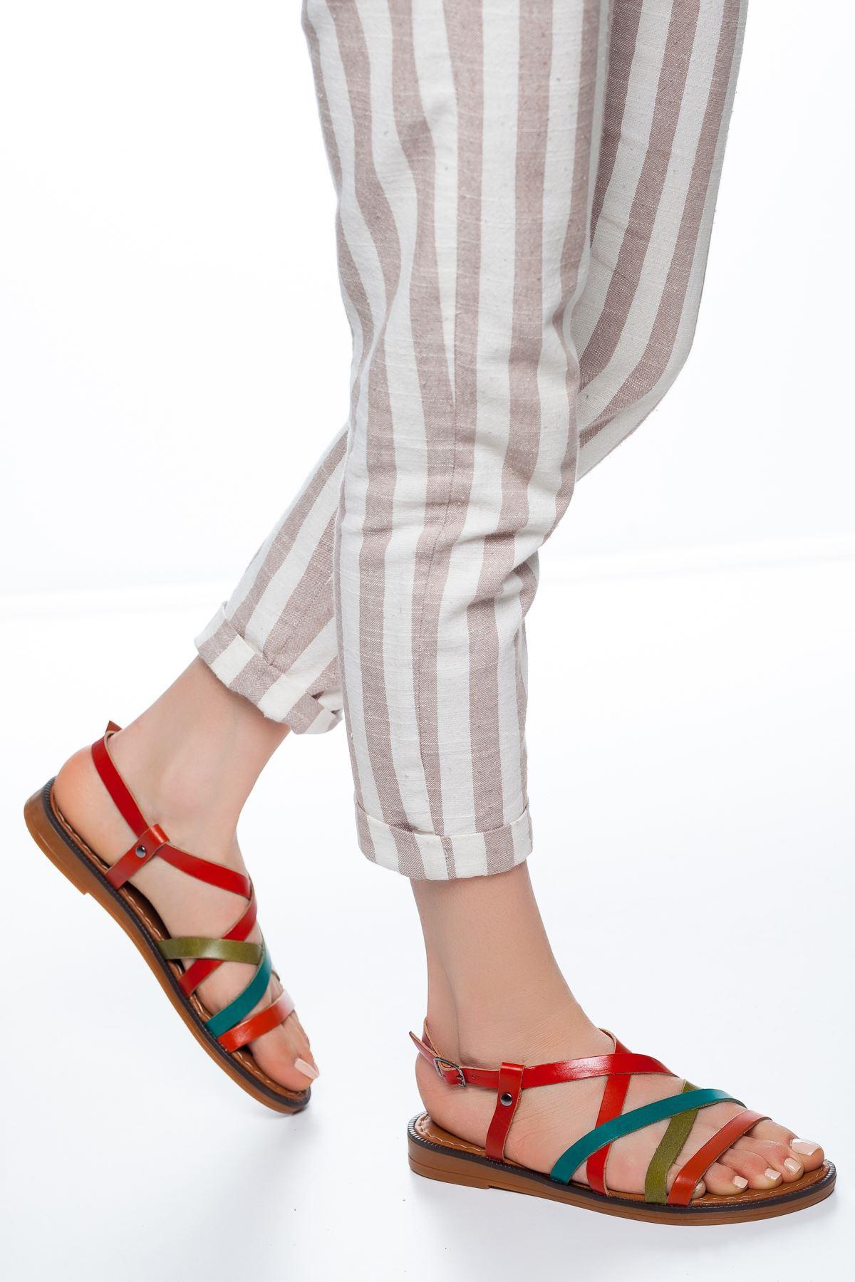 Ezra Deri Sandalet Multi