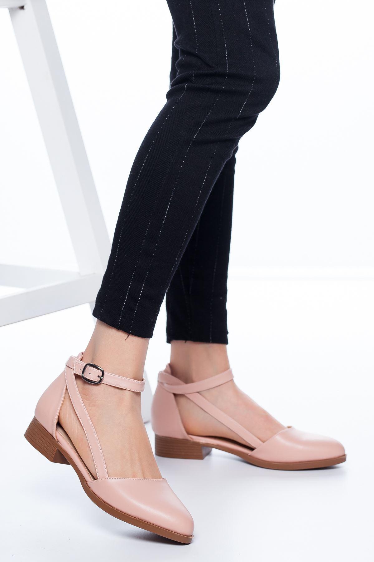 Tamara Kısa Topuklu Ayakkabı Pudra