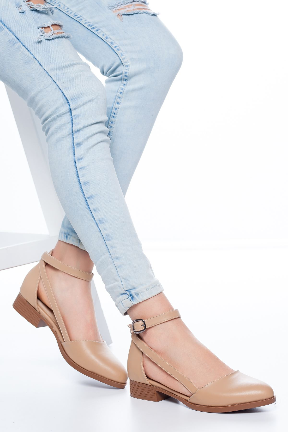 Tamara Kısa Topuklu Ayakkabı Ten
