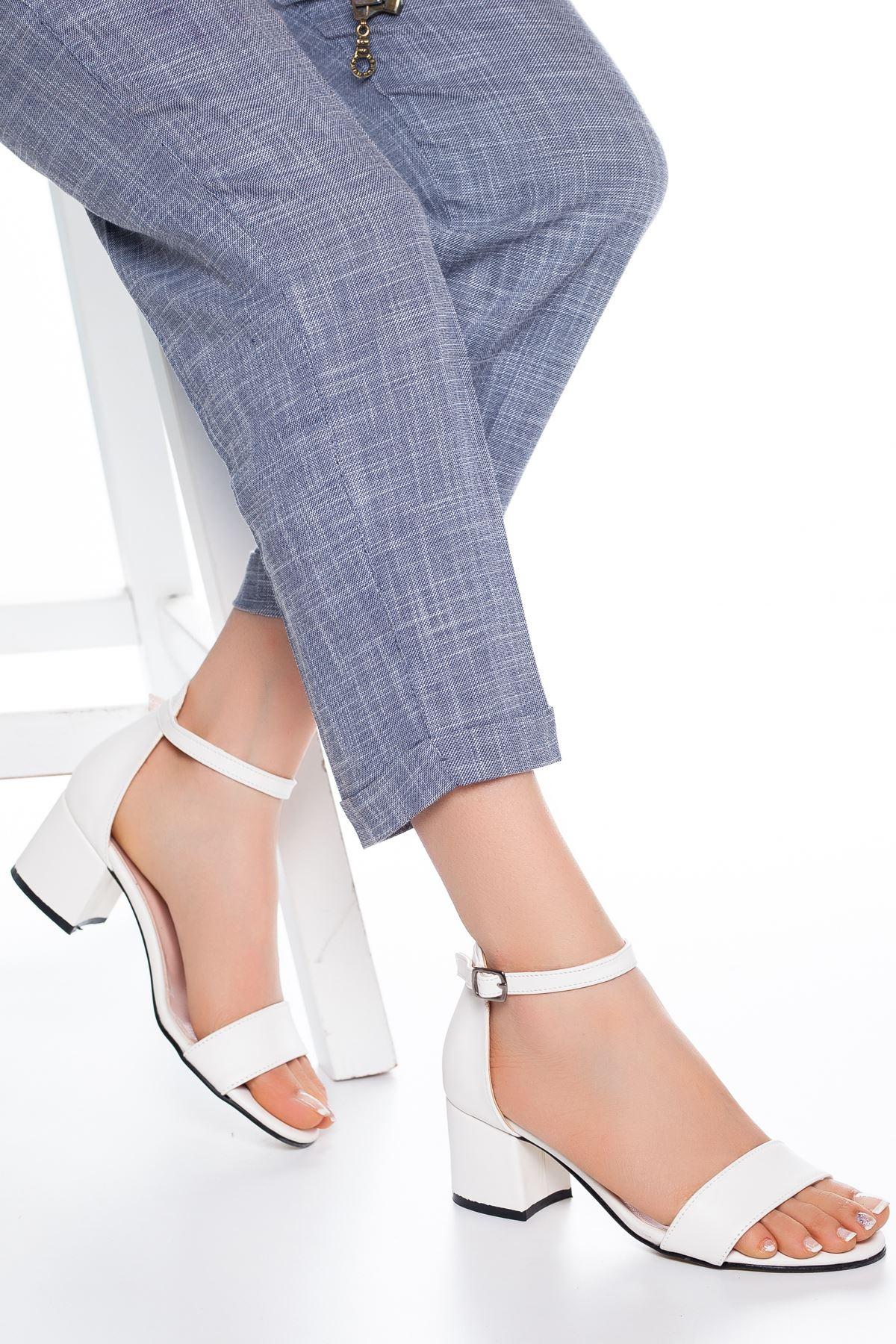 Fioana Topuklu Ayakkabı Beyaz