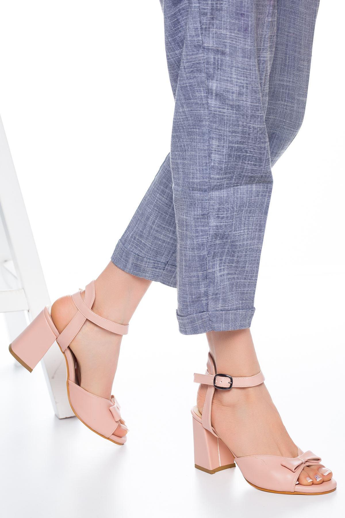 Deborah Topuklu Cilt Ayakkabı Pudra