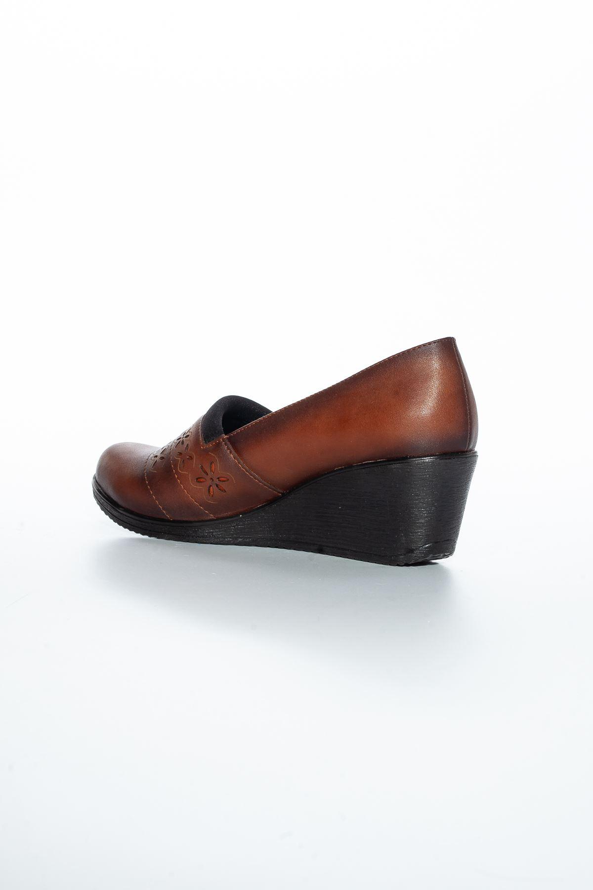 Alba Cilt Ayakkabı Taba