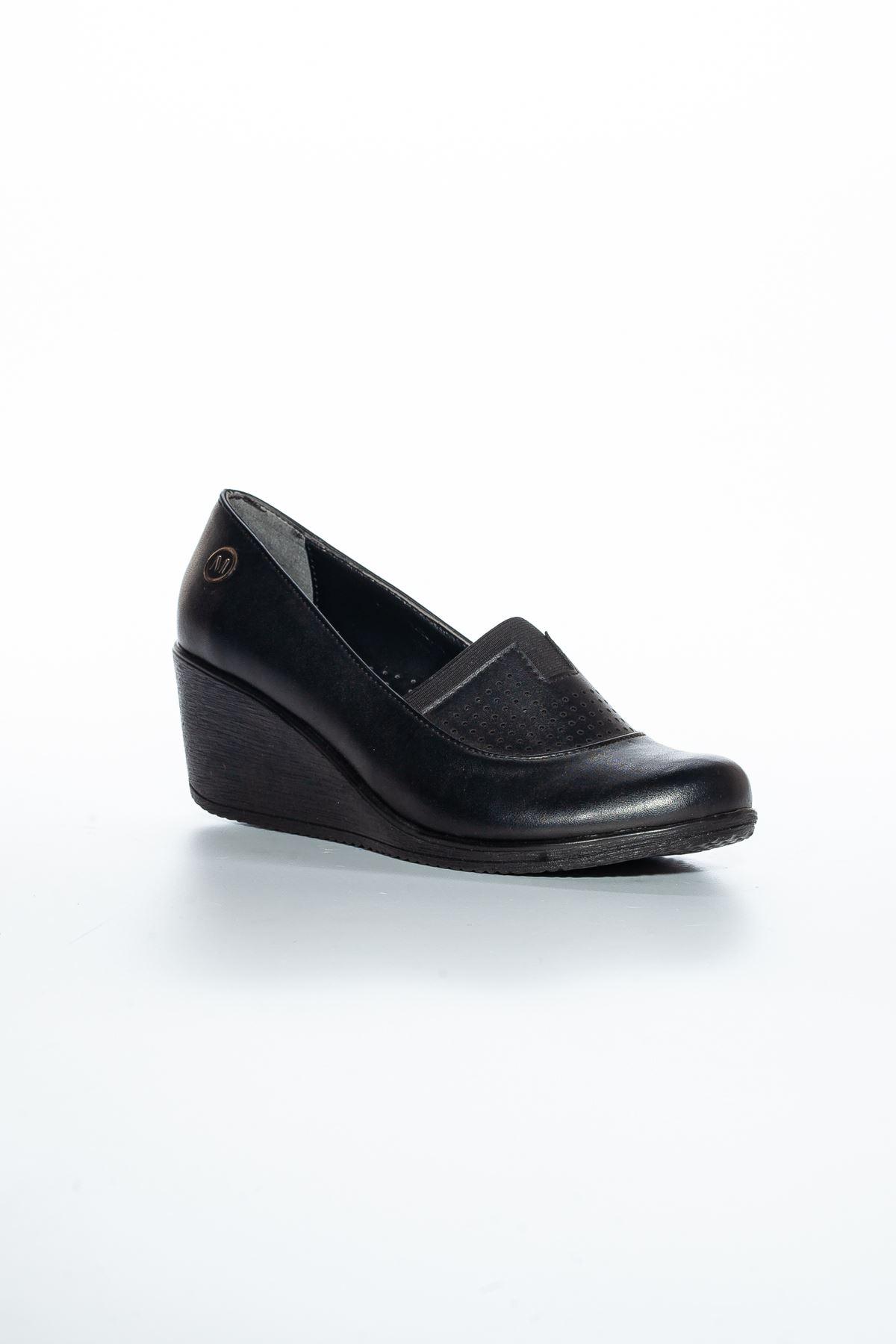Alka Cilt Ayakkabı Siyah