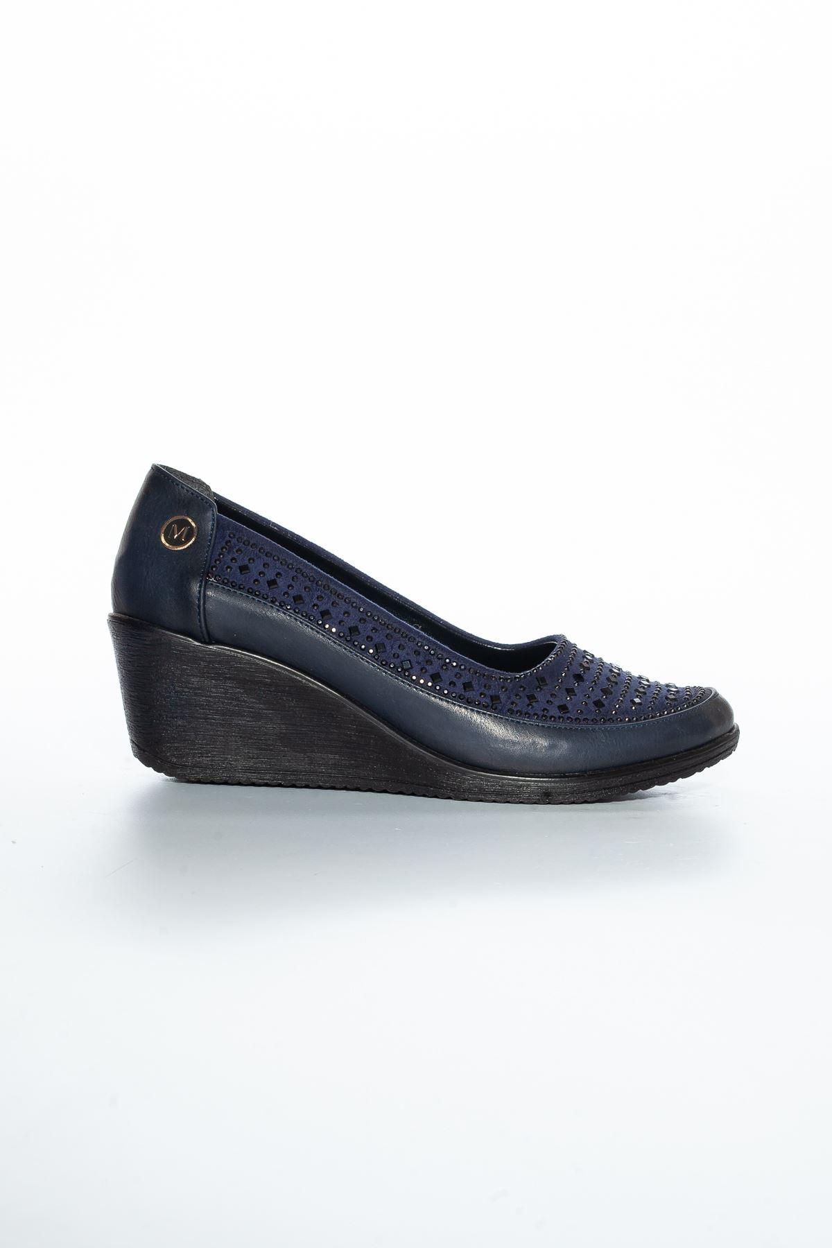 Alza Cilt Ayakkabı Lacivert