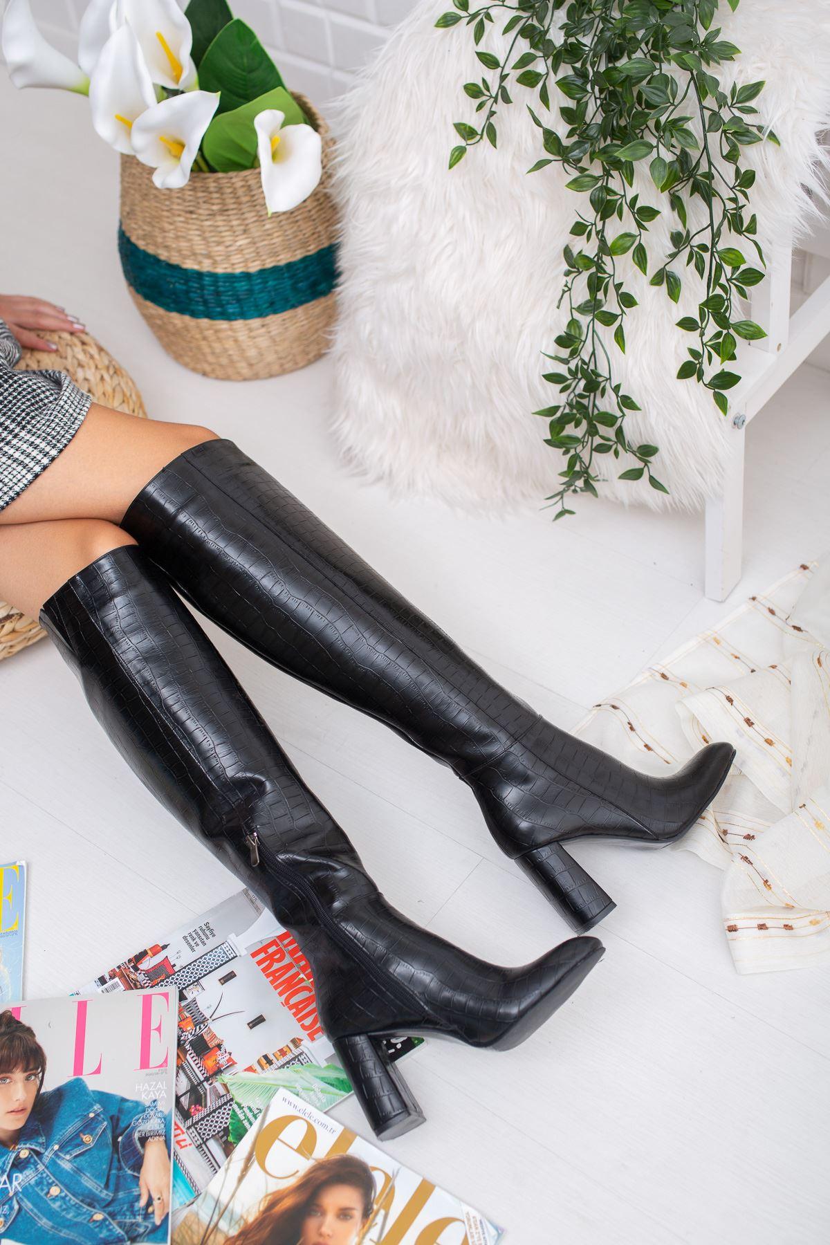 Vesa Crock Çizme Siyah