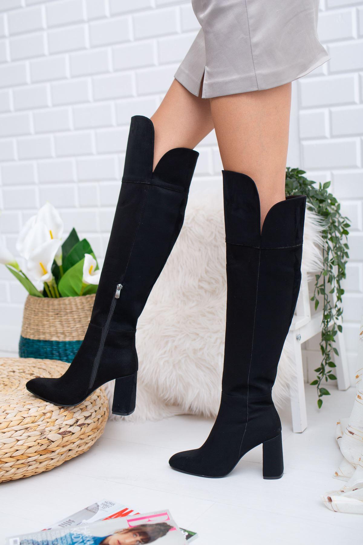 Janita Süet Çizme Siyah