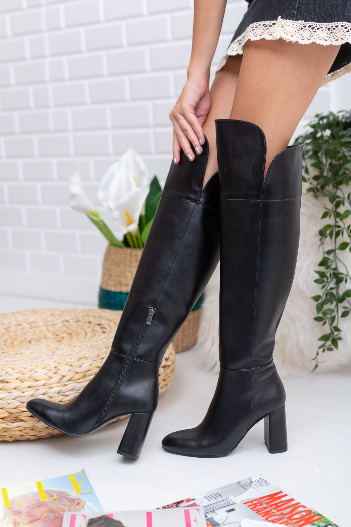 Janita Deri Çizme Siyah
