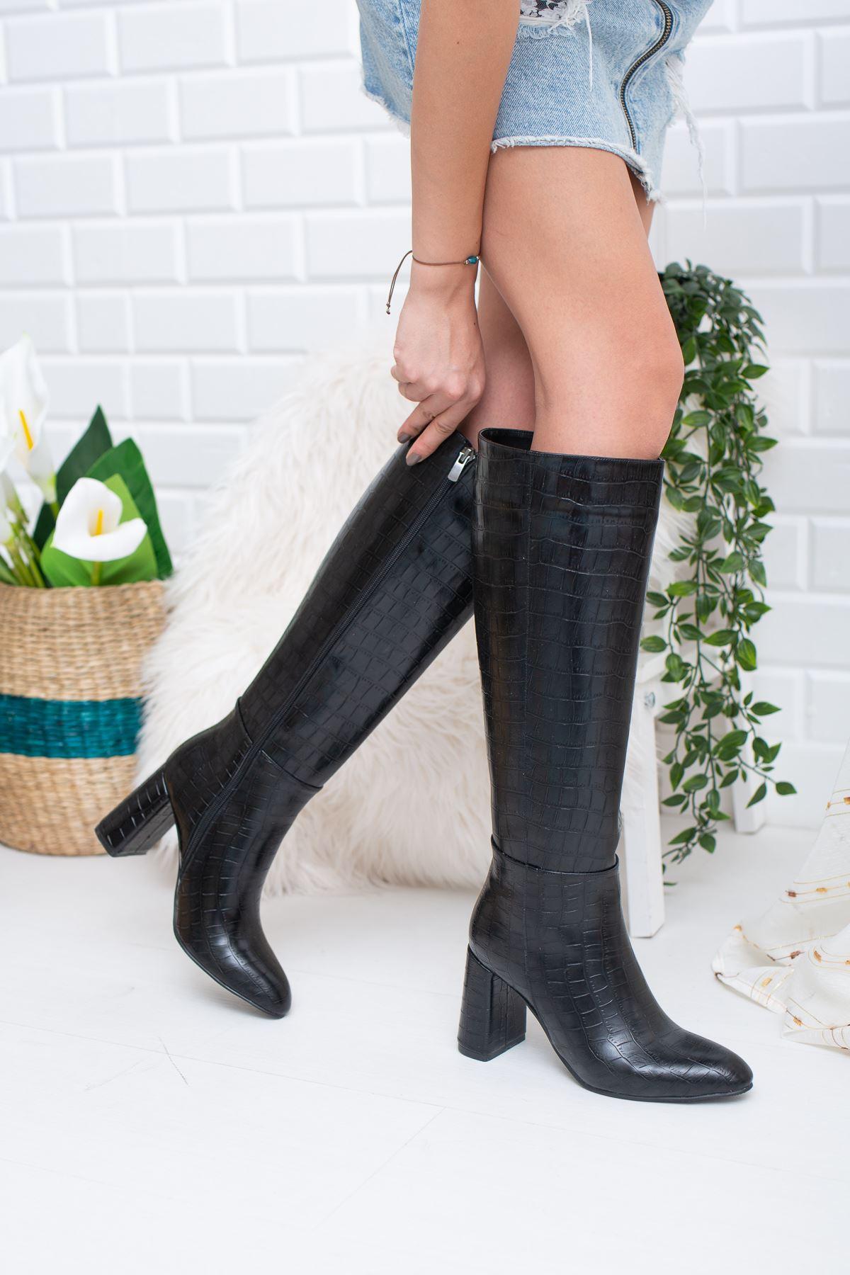 Horse Crock Çizme Siyah