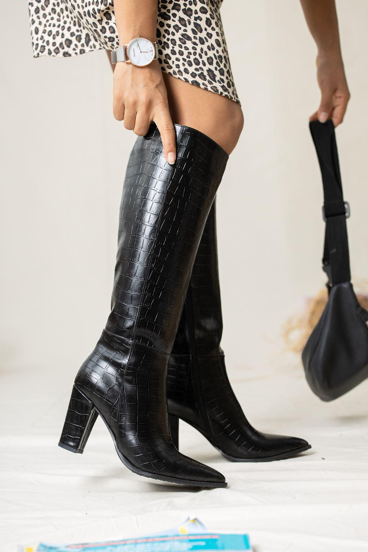 Bambo Crock Çizme Siyah