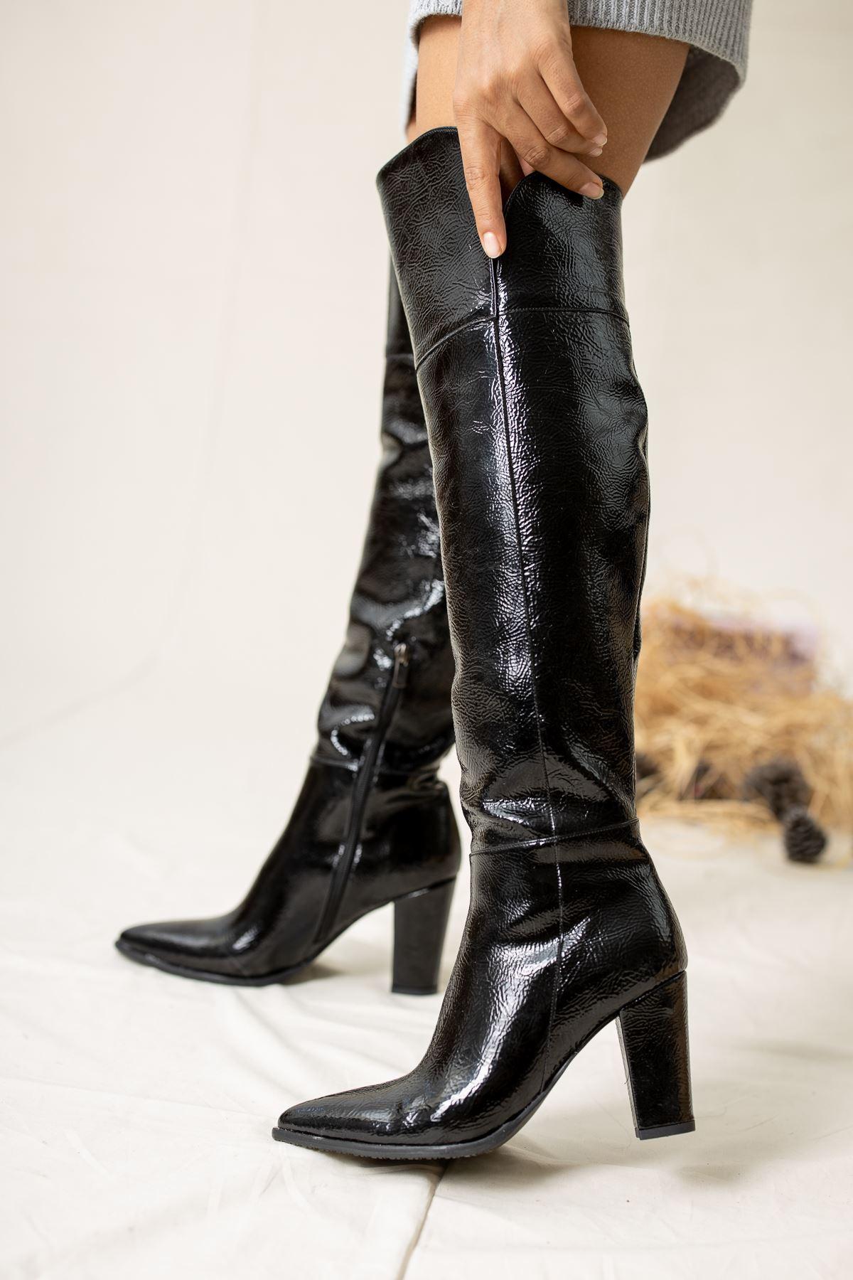 Ester Rugan Çizme Siyah