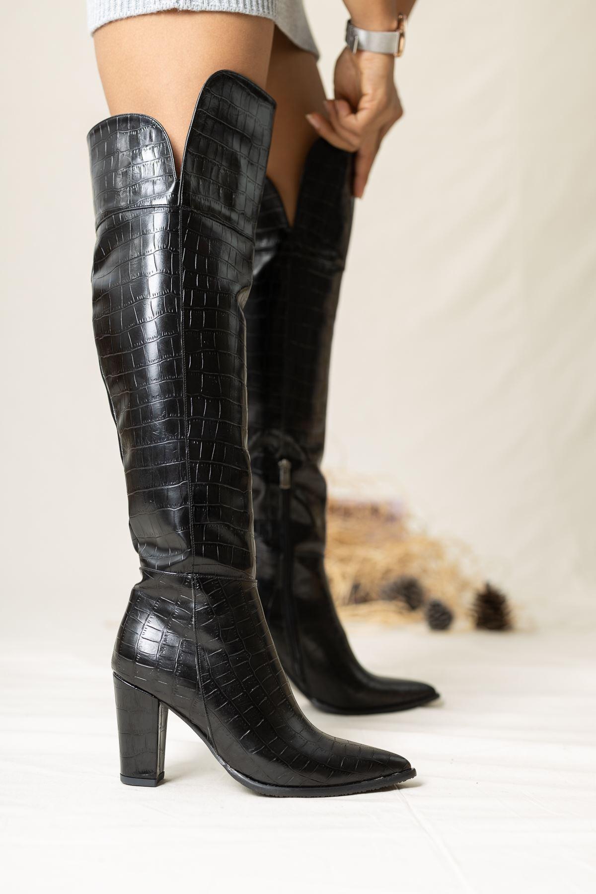 Ester Crock Çizme Siyah