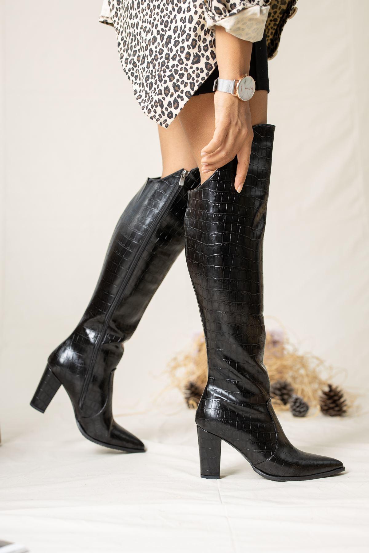 Suvla Crock Çizme Siyah