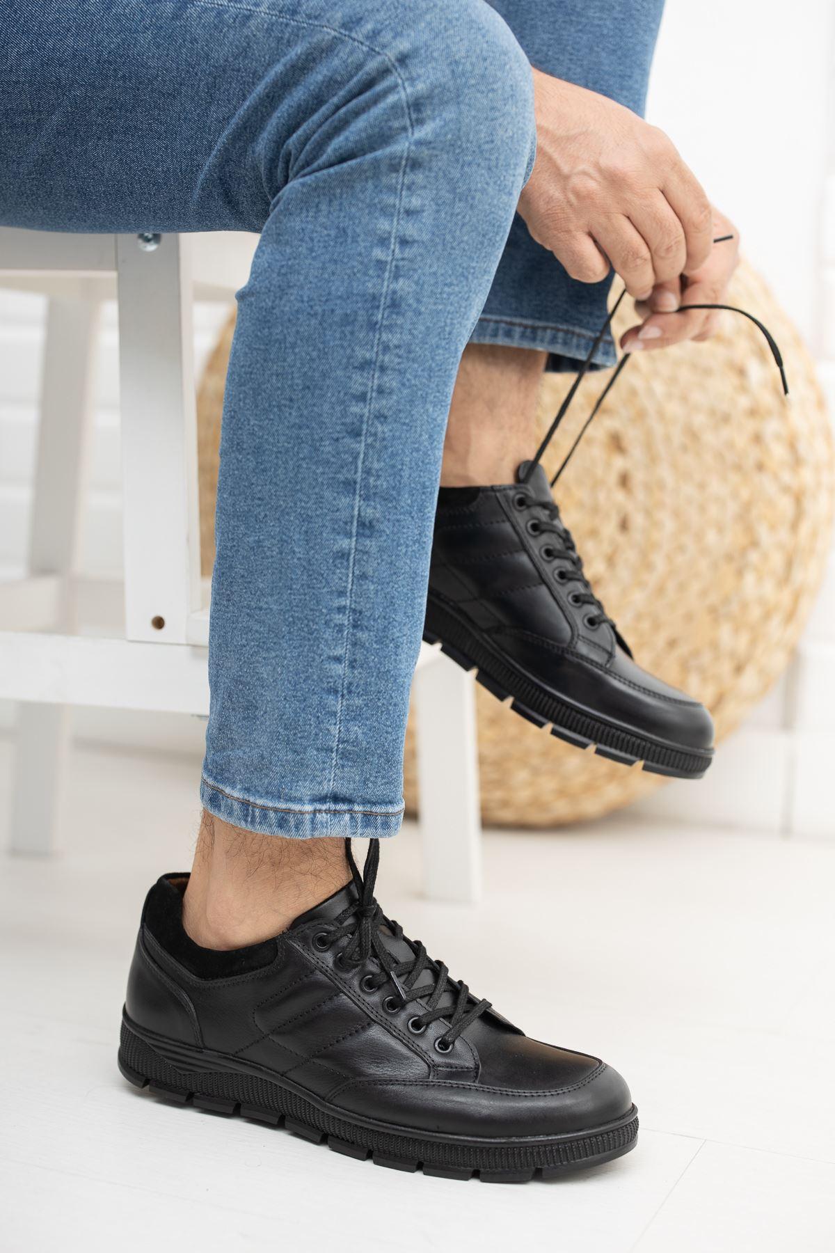 Hakiki Deri Ayakkabı Siyah