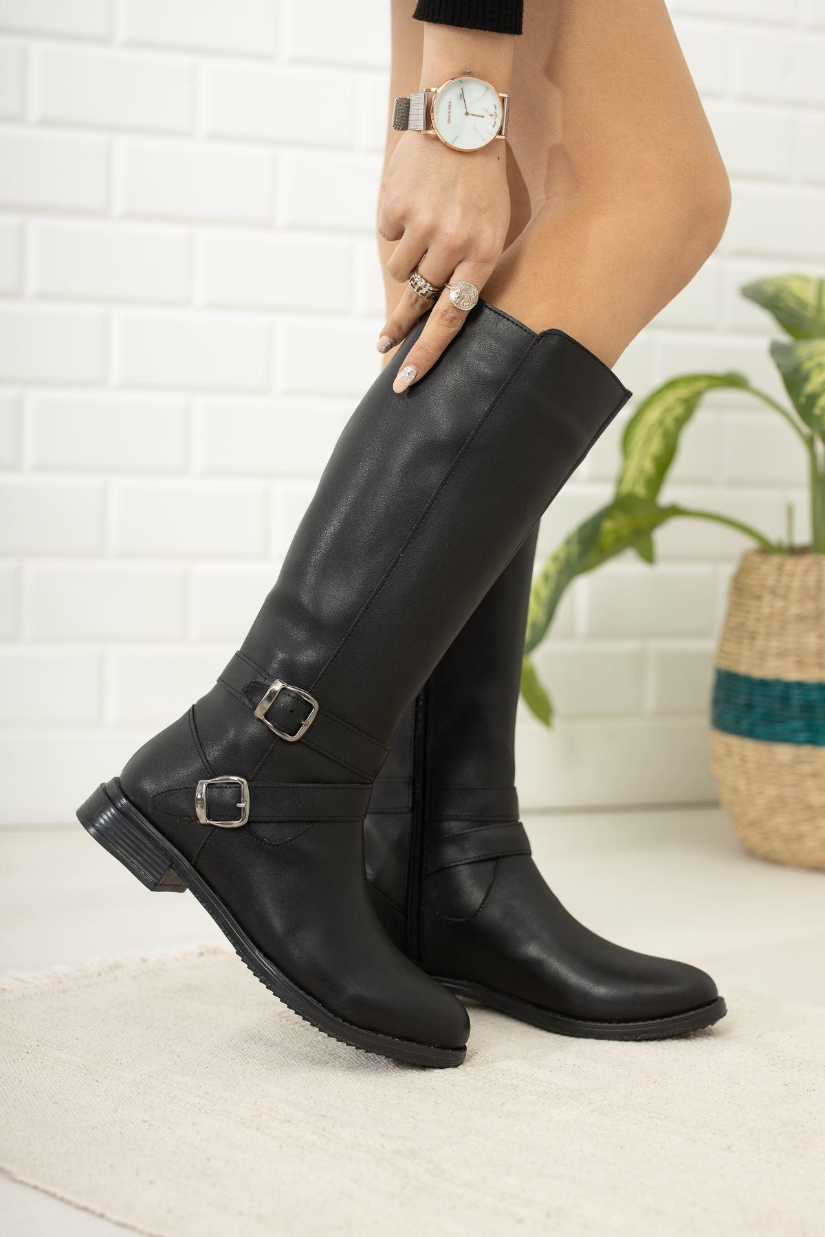 Harvey Deri Çizme Siyah