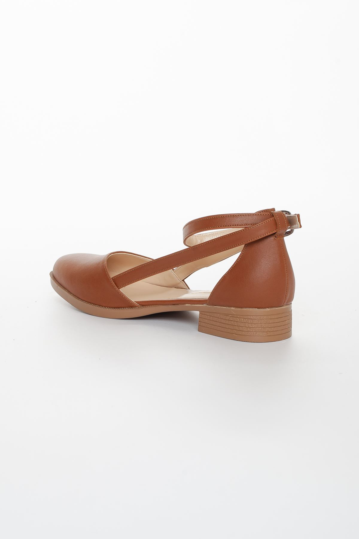 Rayna Kısa Topuk  Cilt Ayakkabı Taba